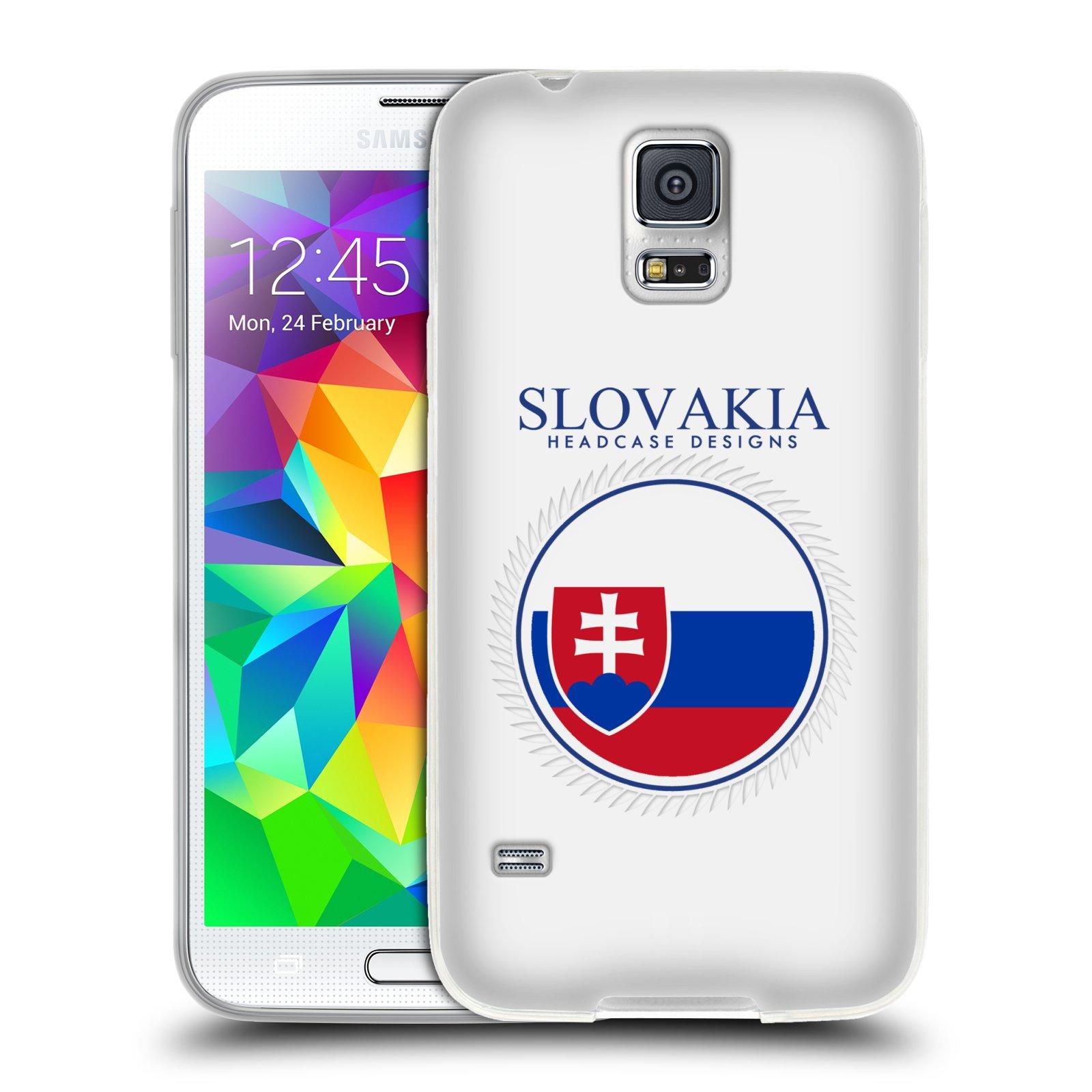 HEAD CASE silikonový obal na mobil Samsung Galaxy S5/S5 NEO vzor Vlajky státy 2 SLOVENSKO