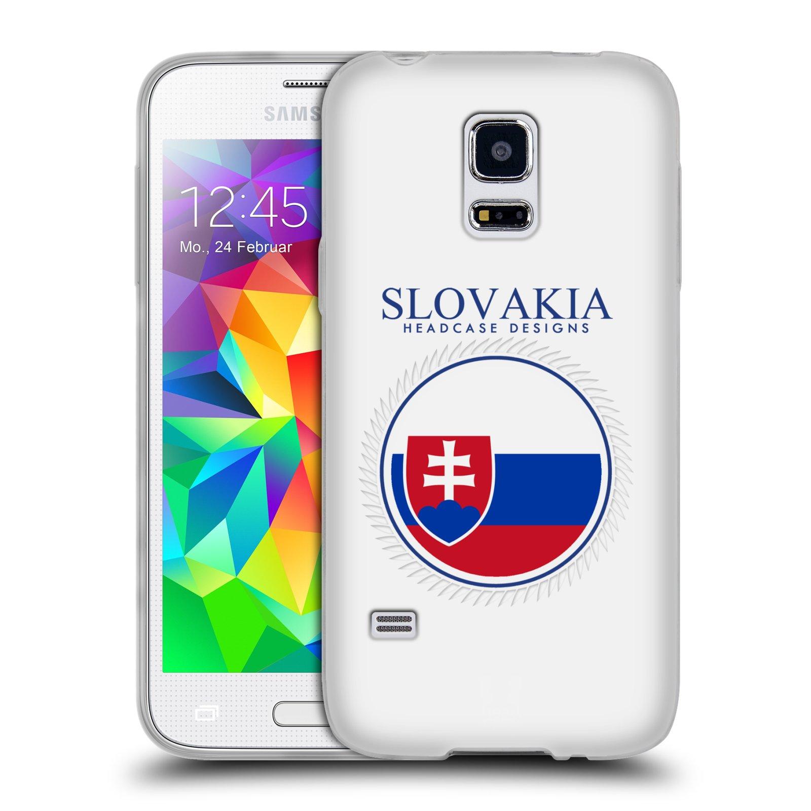 HEAD CASE silikonový obal na mobil Samsung Galaxy S5 MINI vzor Vlajky státy 2 SLOVENSKO