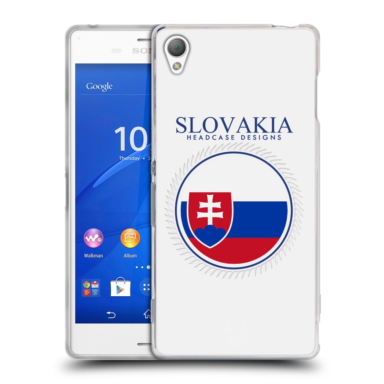 HEAD CASE silikonový obal na mobil Sony Xperia Z3 vzor Vlajky státy 2 SLOVENSKO