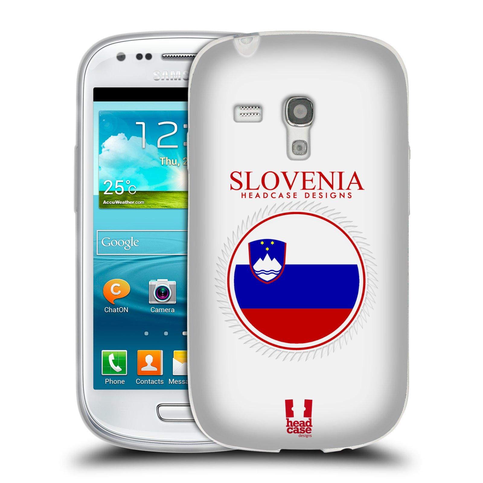 HEAD CASE silikonový obal na mobil Samsung Galaxy S3 MINI i8190 vzor Vlajky státy 2 SLOVINSKO