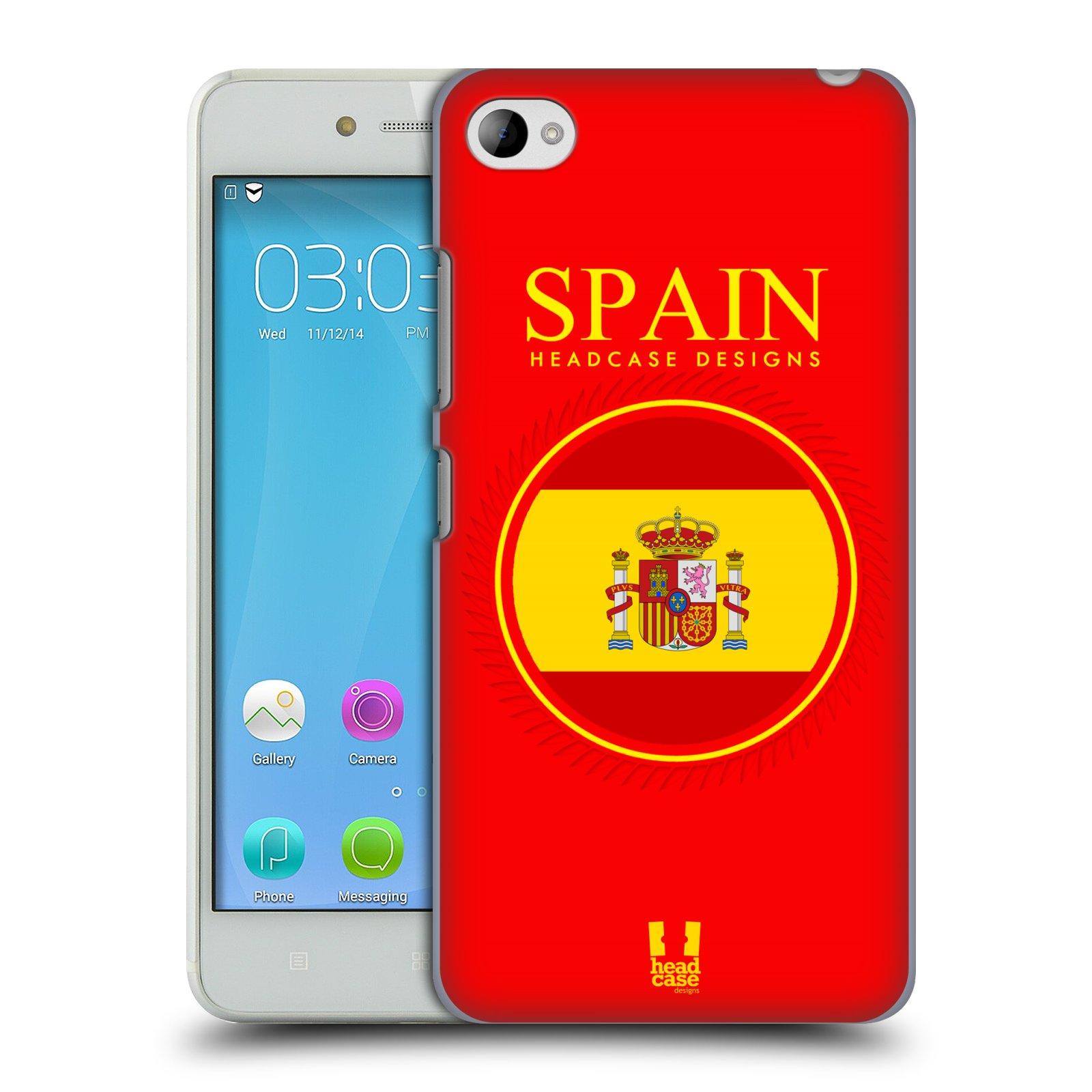 HEAD CASE pevný plastový obal na mobil LENOVO S90 vzor Vlajky státy 2 ŠPANĚLSKO