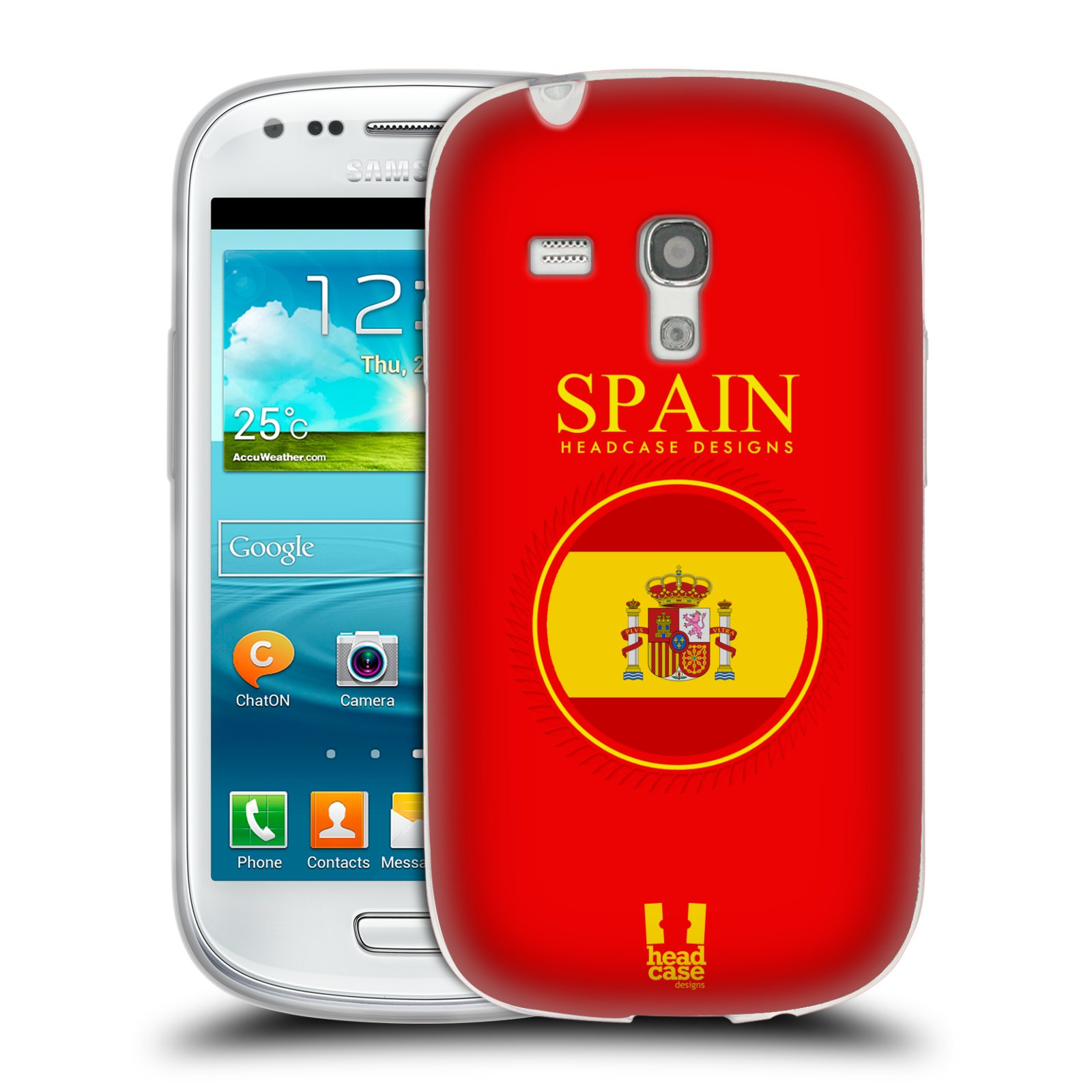 HEAD CASE silikonový obal na mobil Samsung Galaxy S3 MINI i8190 vzor Vlajky státy 2 ŠPANĚLSKO