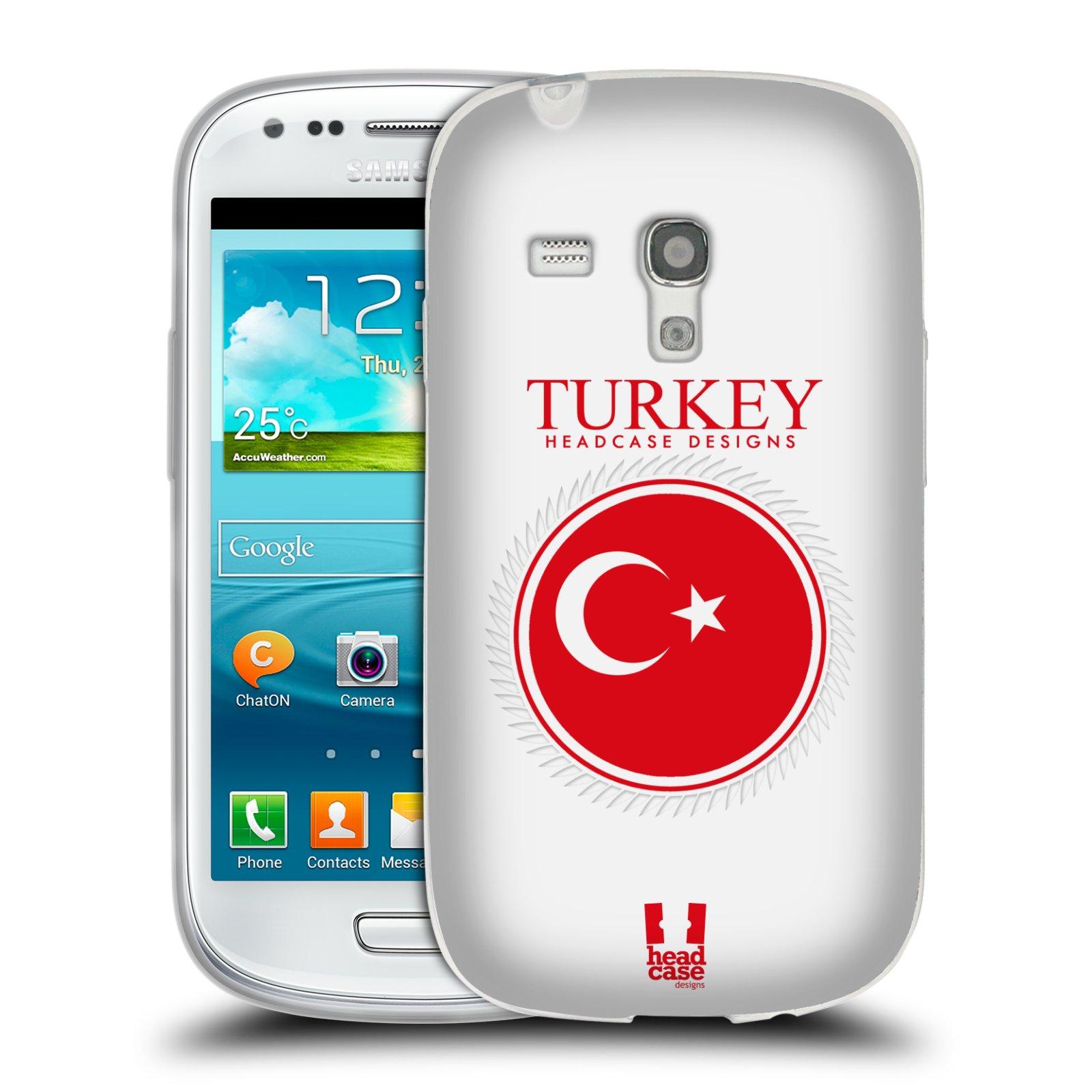 HEAD CASE silikonový obal na mobil Samsung Galaxy S3 MINI i8190 vzor Vlajky státy 2 TURECKO