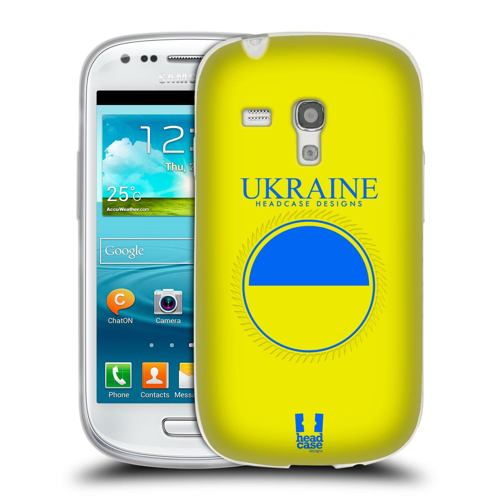 HEAD CASE silikonový obal na mobil Samsung Galaxy S3 MINI i8190 vzor Vlajky státy 2 UKRAJINA