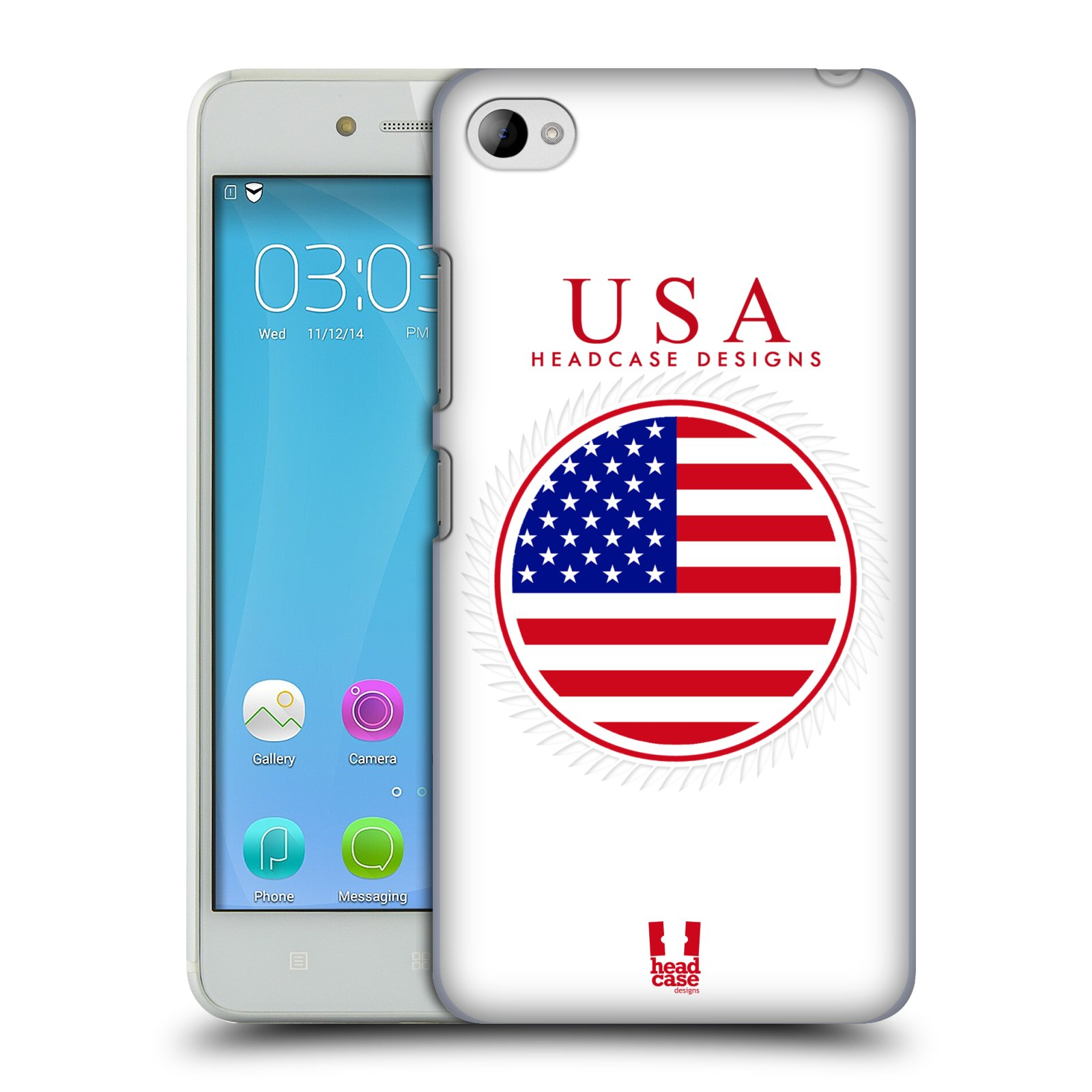 HEAD CASE pevný plastový obal na mobil LENOVO S90 vzor Vlajky státy 2 USA SPOJENÉ STÁTY