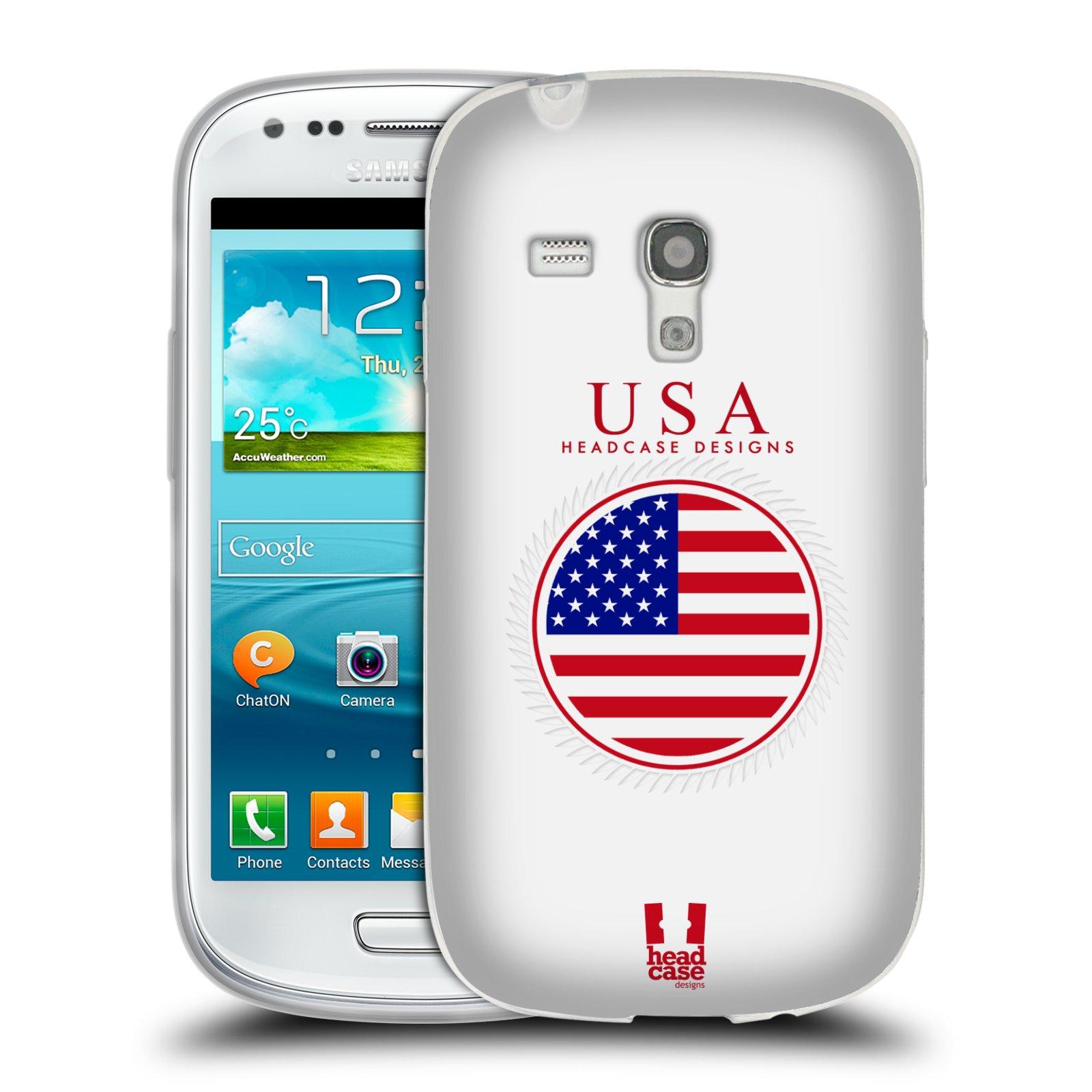 HEAD CASE silikonový obal na mobil Samsung Galaxy S3 MINI i8190 vzor Vlajky státy 2 USA SPOJENÉ STÁTY