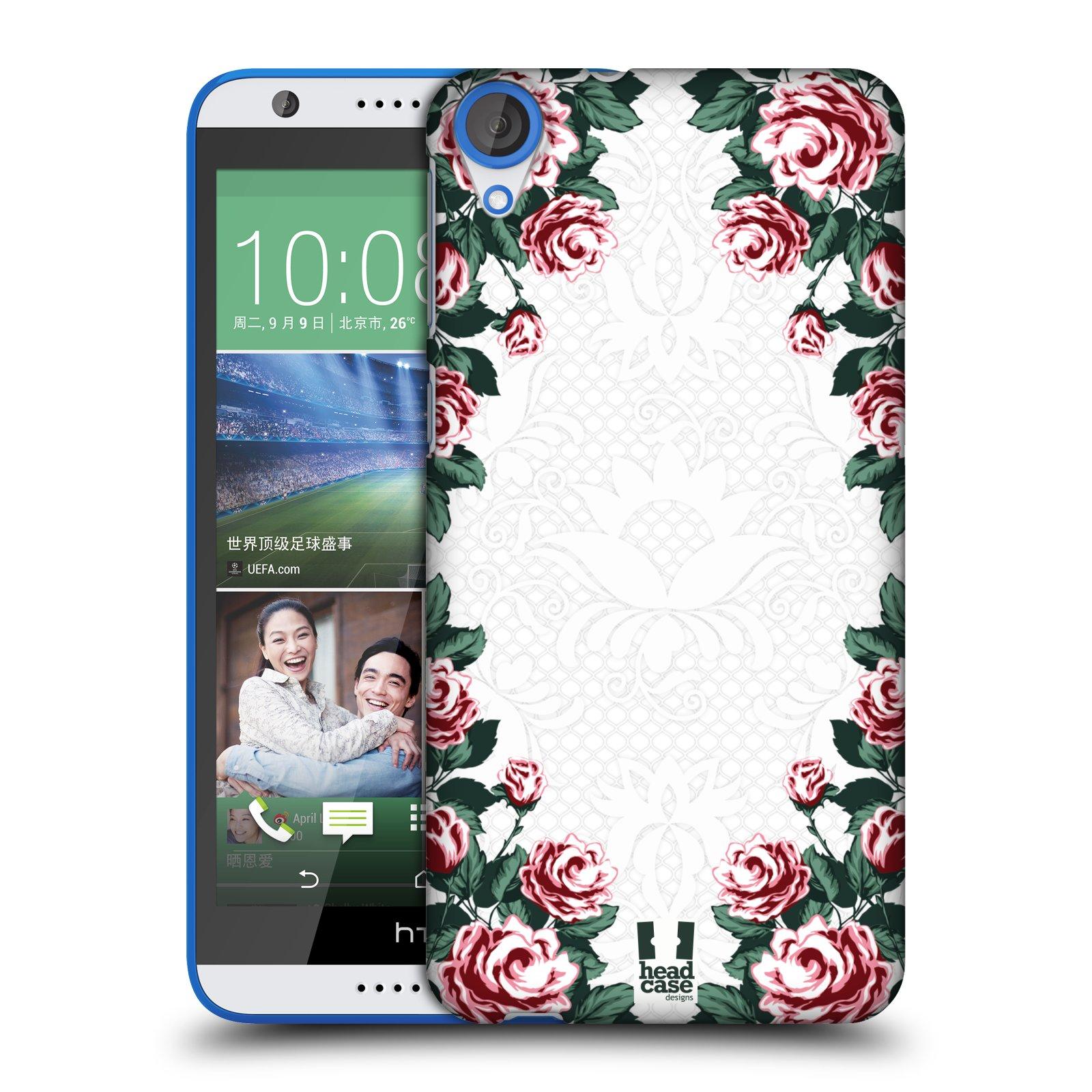 HEAD CASE DESIGNS FLORAL ART DECO HARD BACK CASE FOR HTC DESIRE 820