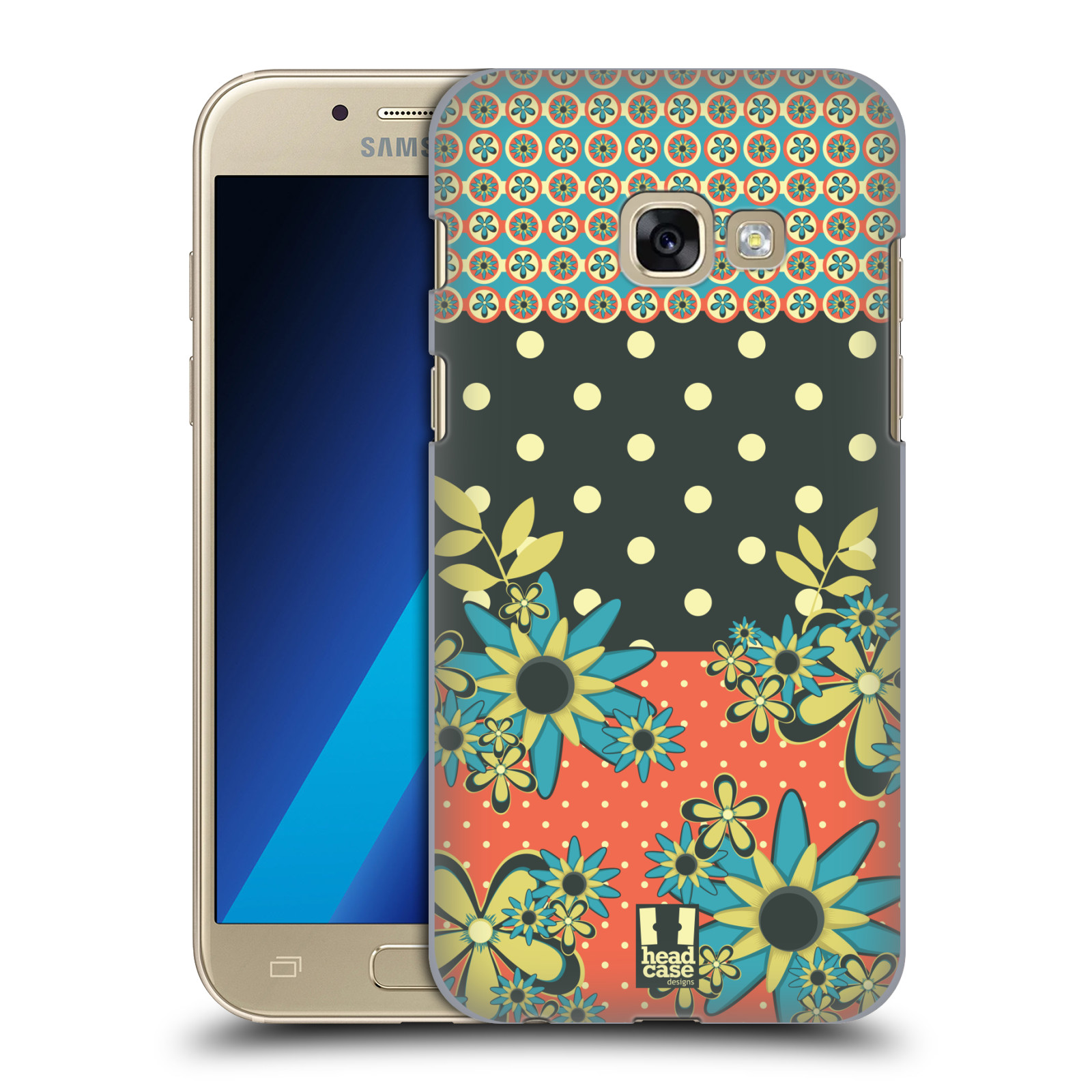 HEAD-CASE-DESIGNS-FLORAL-DOTS-HARD-BACK-CASE-FOR-SAMSUNG-GALAXY-A3-2017