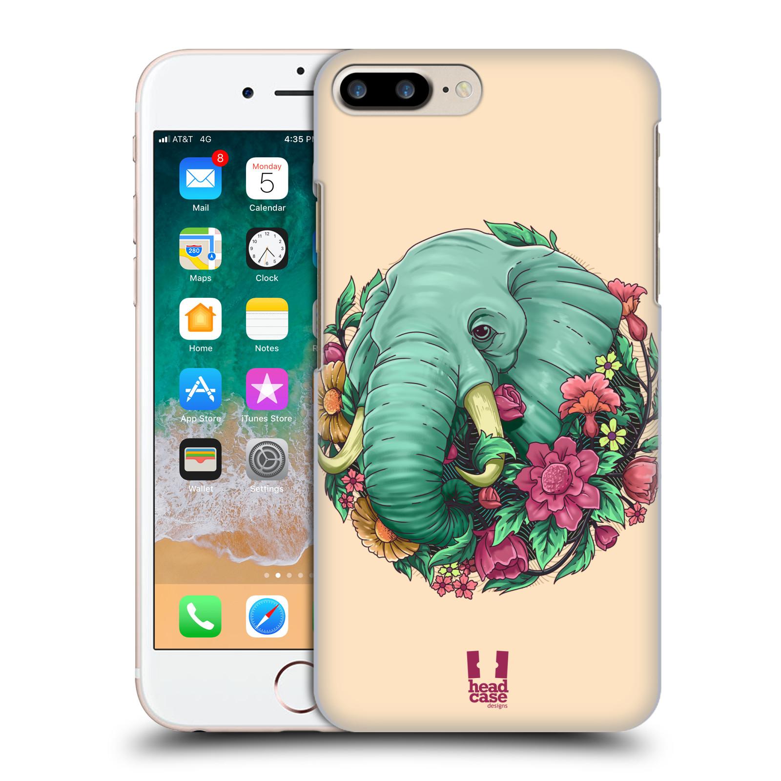 HEAD CASE plastový obal na mobil Apple Iphone 7 PLUS vzor Flóra a Fauna slon