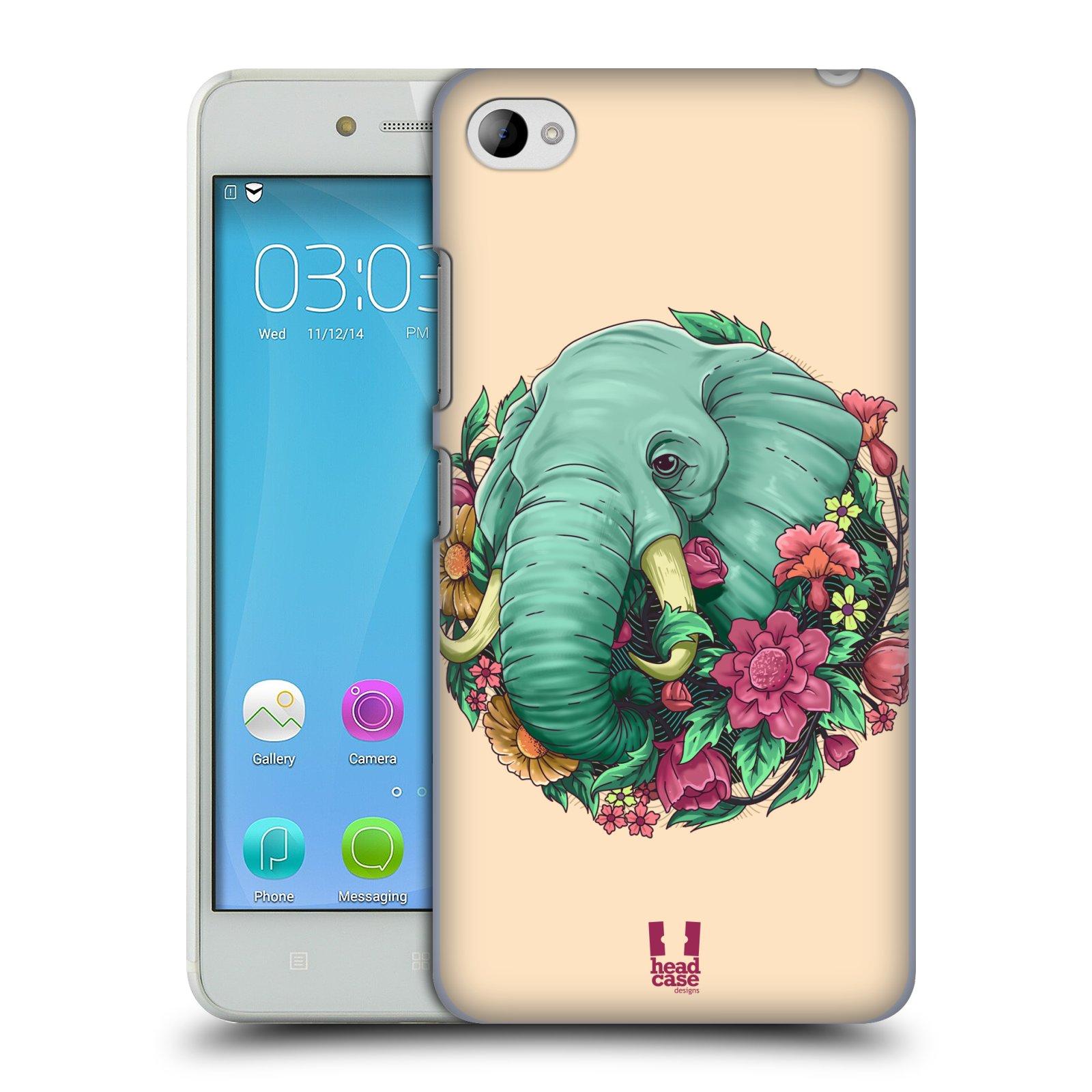 HEAD CASE pevný plastový obal na mobil LENOVO S90 vzor Flóra a Fauna slon