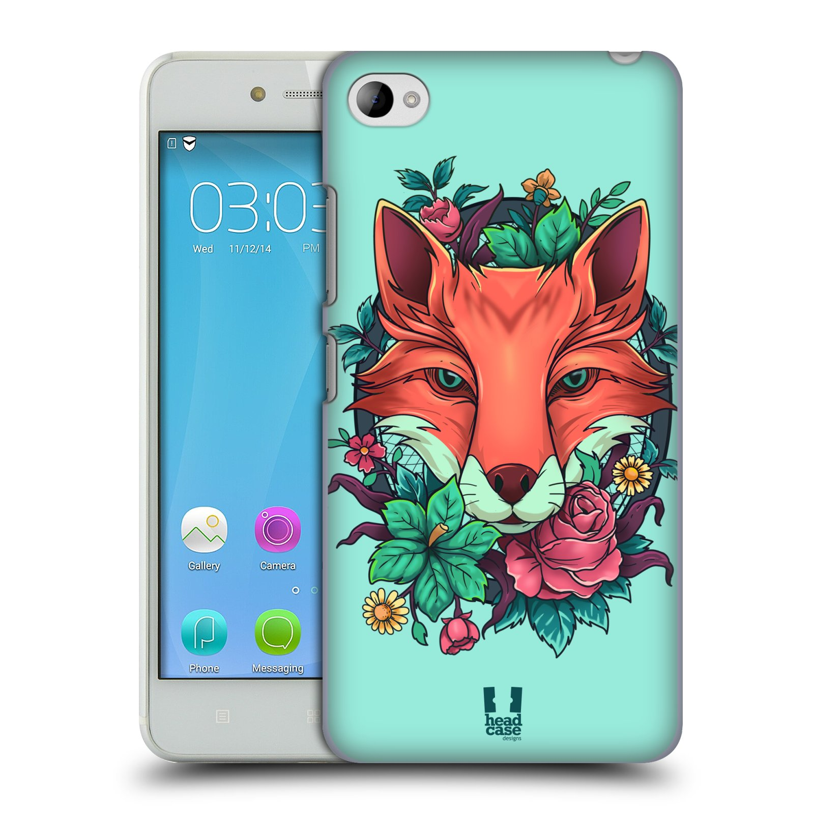 HEAD CASE pevný plastový obal na mobil LENOVO S90 vzor Flóra a Fauna liška