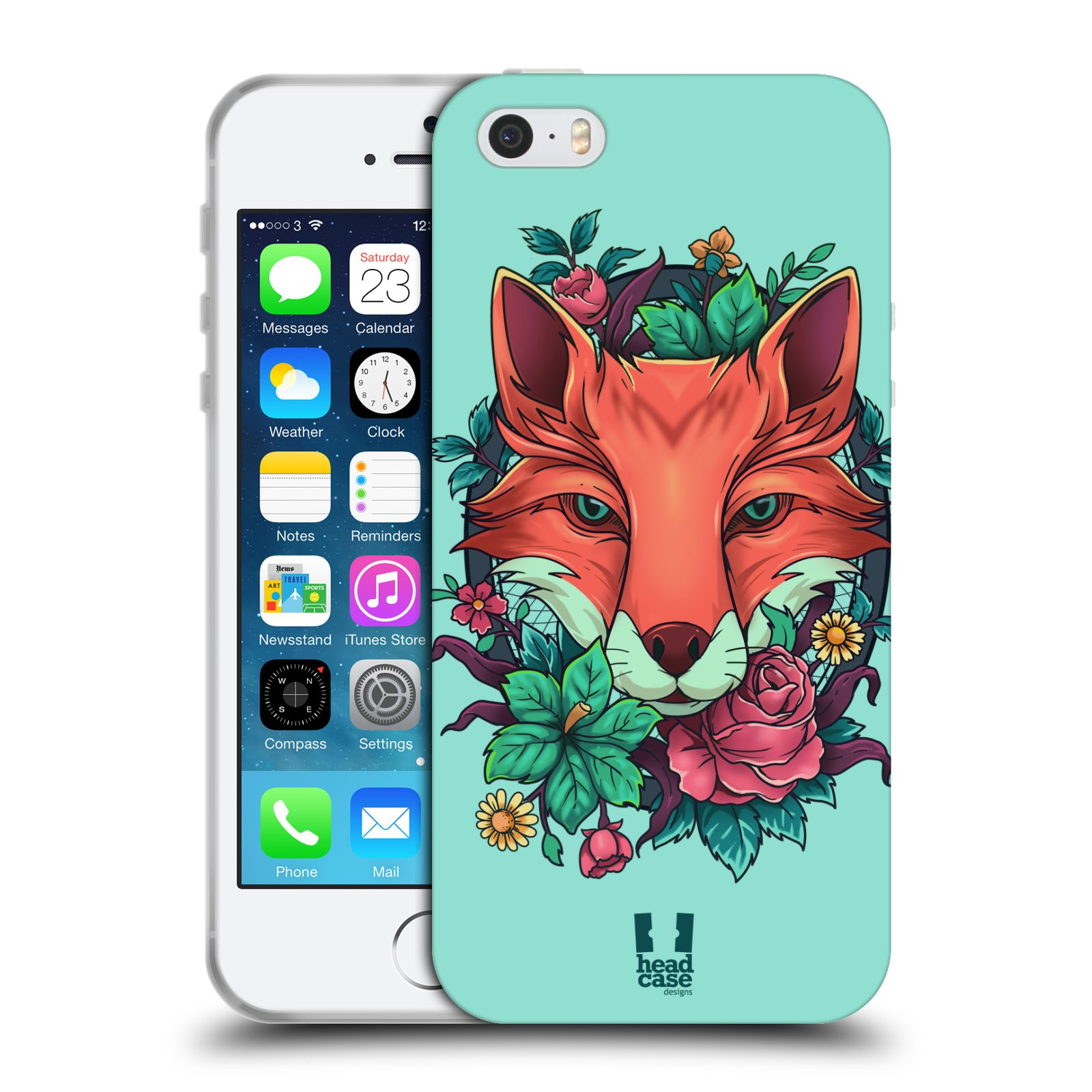 HEAD CASE FLORA AND FAUNA TPU GEL BACK CASE COVER FOR APPLE iPHONE 5S
