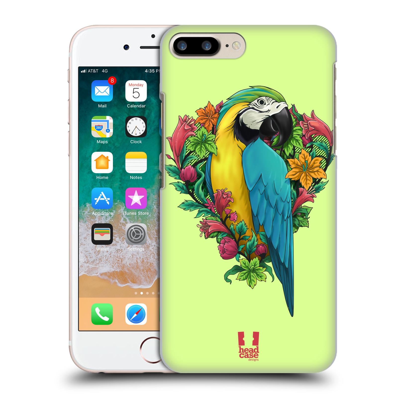 HEAD CASE plastový obal na mobil Apple Iphone 7 PLUS vzor Flóra a Fauna papoušek