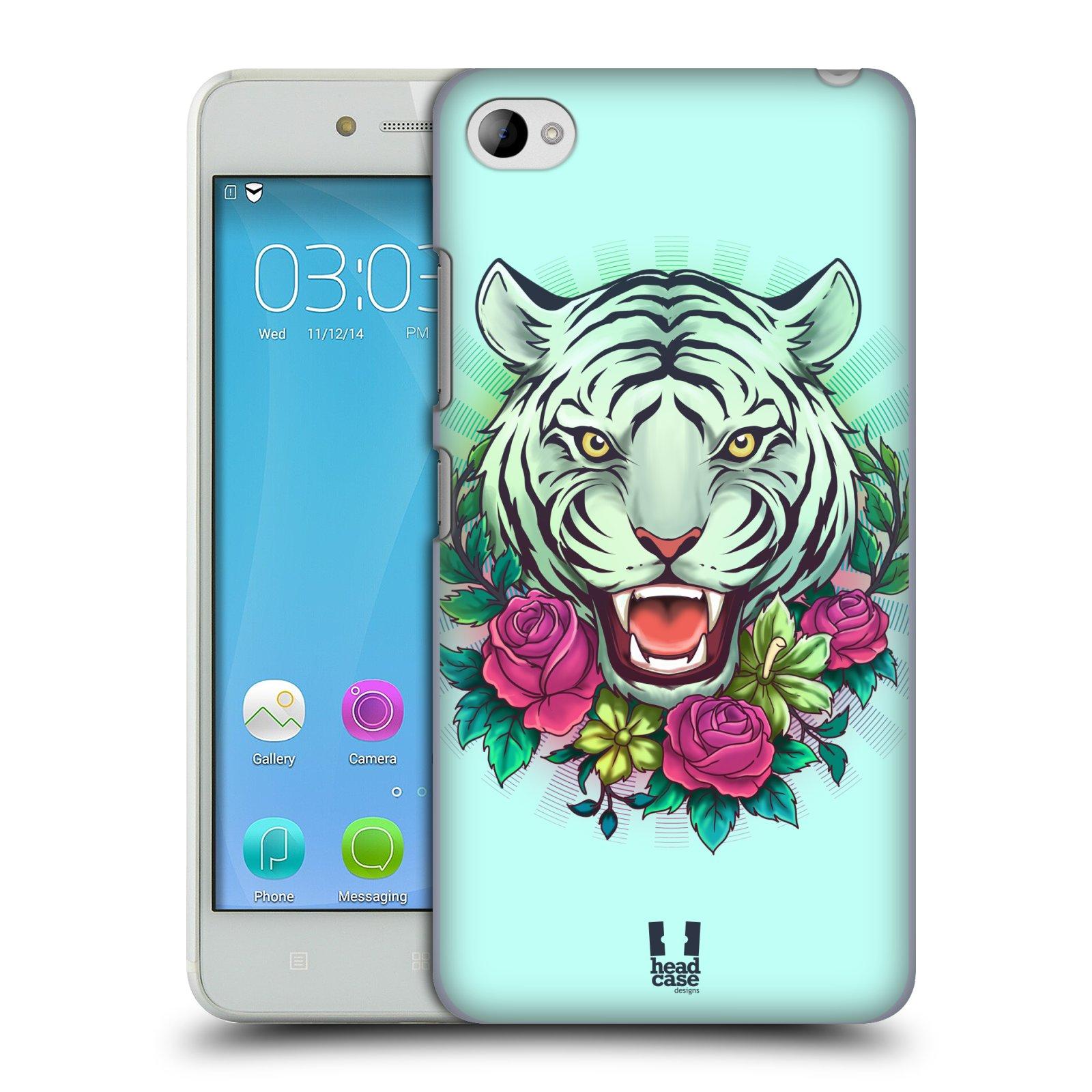 HEAD CASE pevný plastový obal na mobil LENOVO S90 vzor Flóra a Fauna tygr