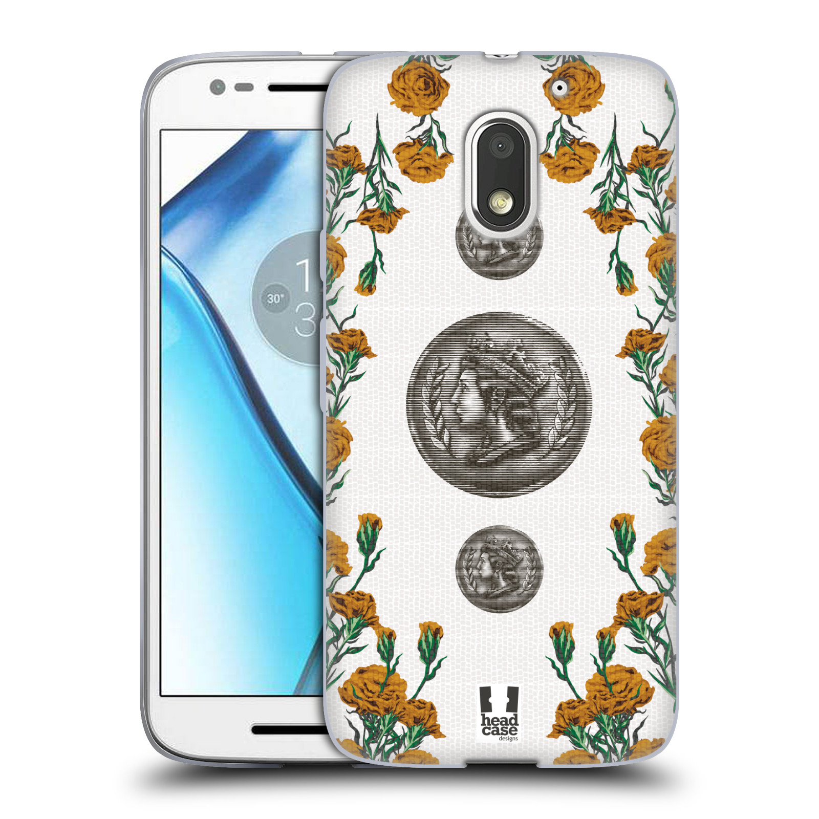 HEAD-CASE-DESIGNS-FLORAL-BRASS-SOFT-GEL-CASE-FOR-MOTOROLA-MOTO-E3