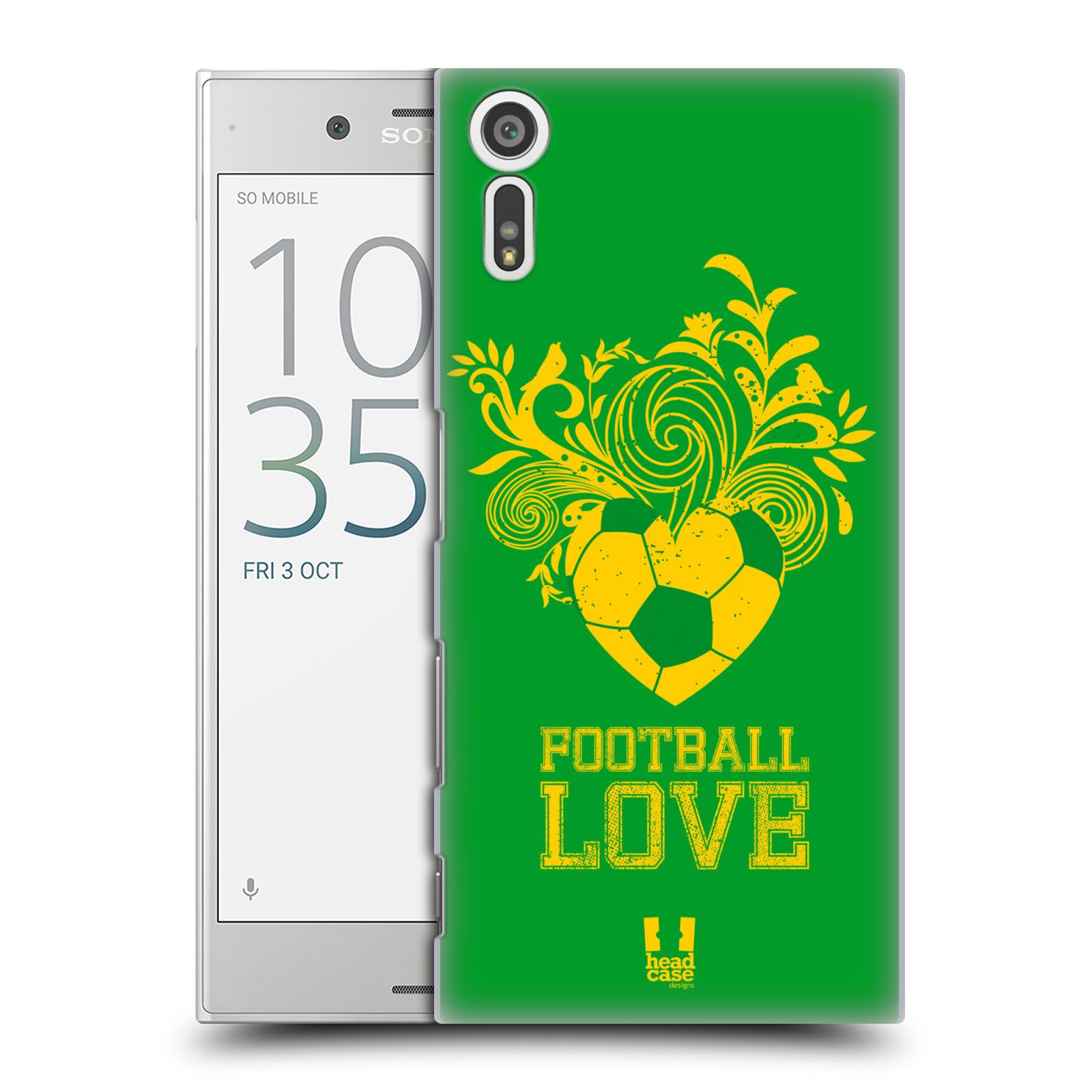 HEAD CASE plastový obal na mobil Sony Xperia XZ Sport fotbalová láska zelená barva