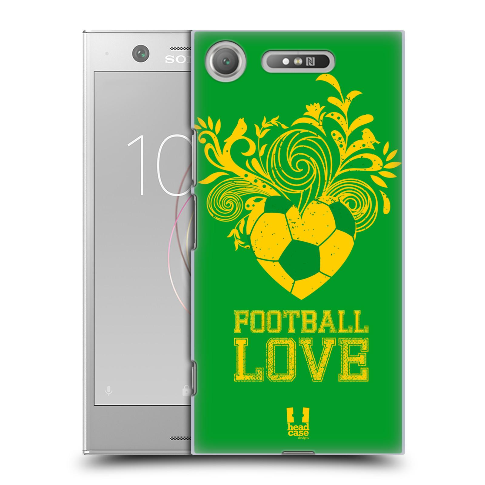 HEAD CASE plastový obal na mobil Sony Xperia XZ1 Sport fotbalová láska zelená barva