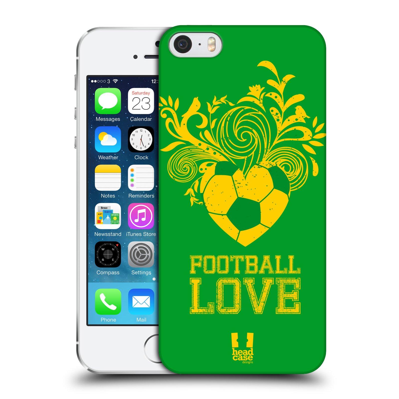Plastové pouzdro pro mobil Apple Iphone 5 / 5S / SE Sport fotbalová láska zelená barva