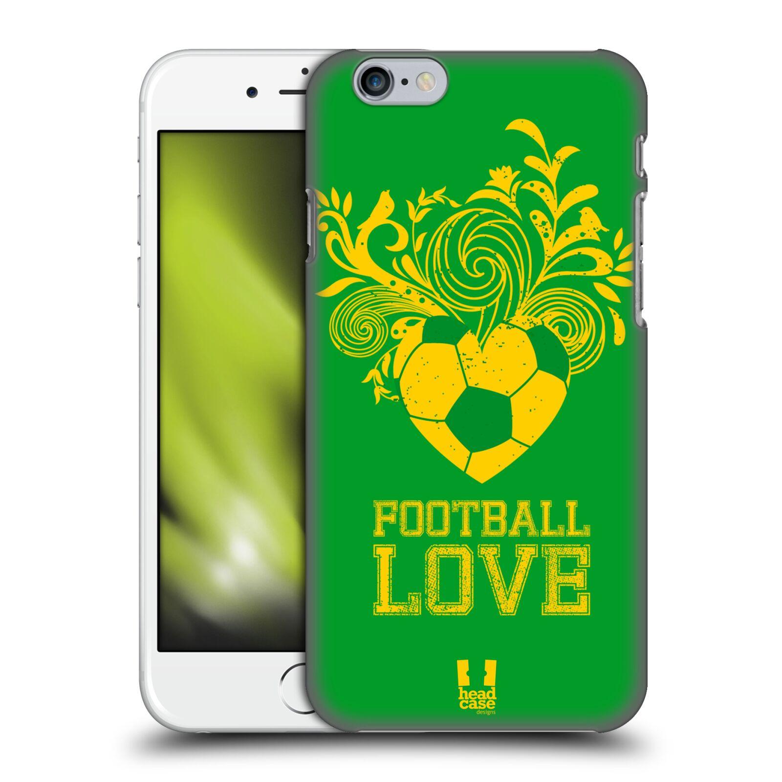 Plastové pouzdro pro mobil Apple Iphone 6/6S Sport fotbalová láska zelená barva