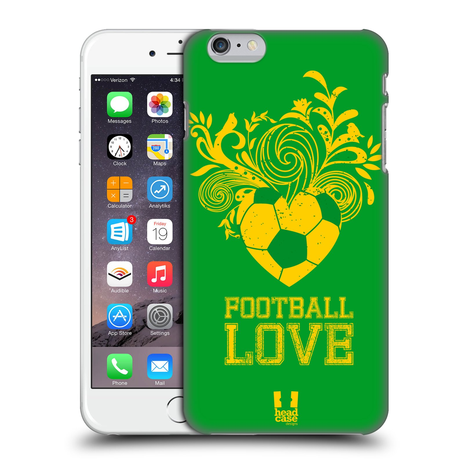 Plastové pouzdro pro mobil Apple Iphone 6 PLUS / 6S PLUS Sport fotbalová láska zelená barva