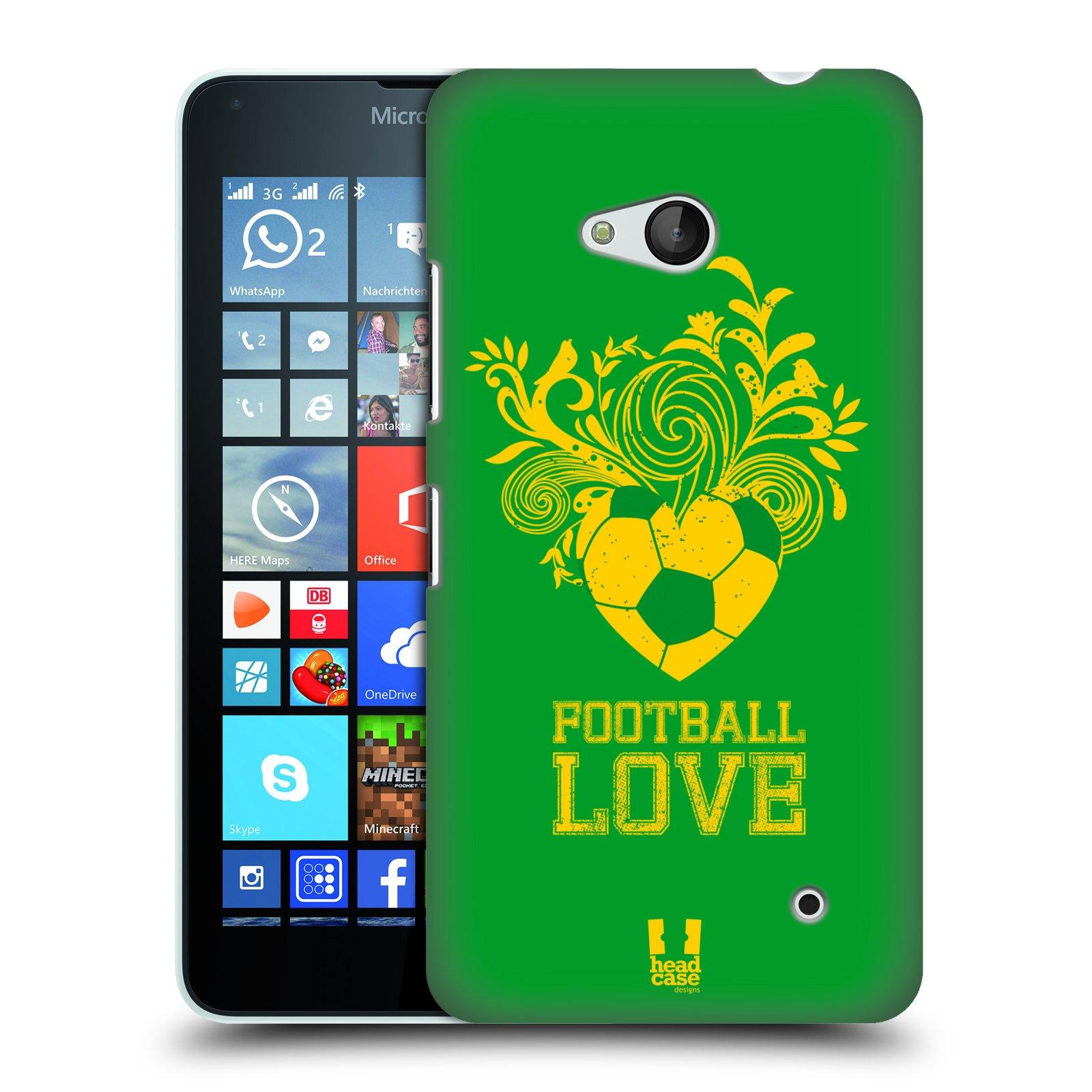 HEAD CASE plastový obal na mobil Nokia Lumia 640 Sport fotbalová láska zelená barva