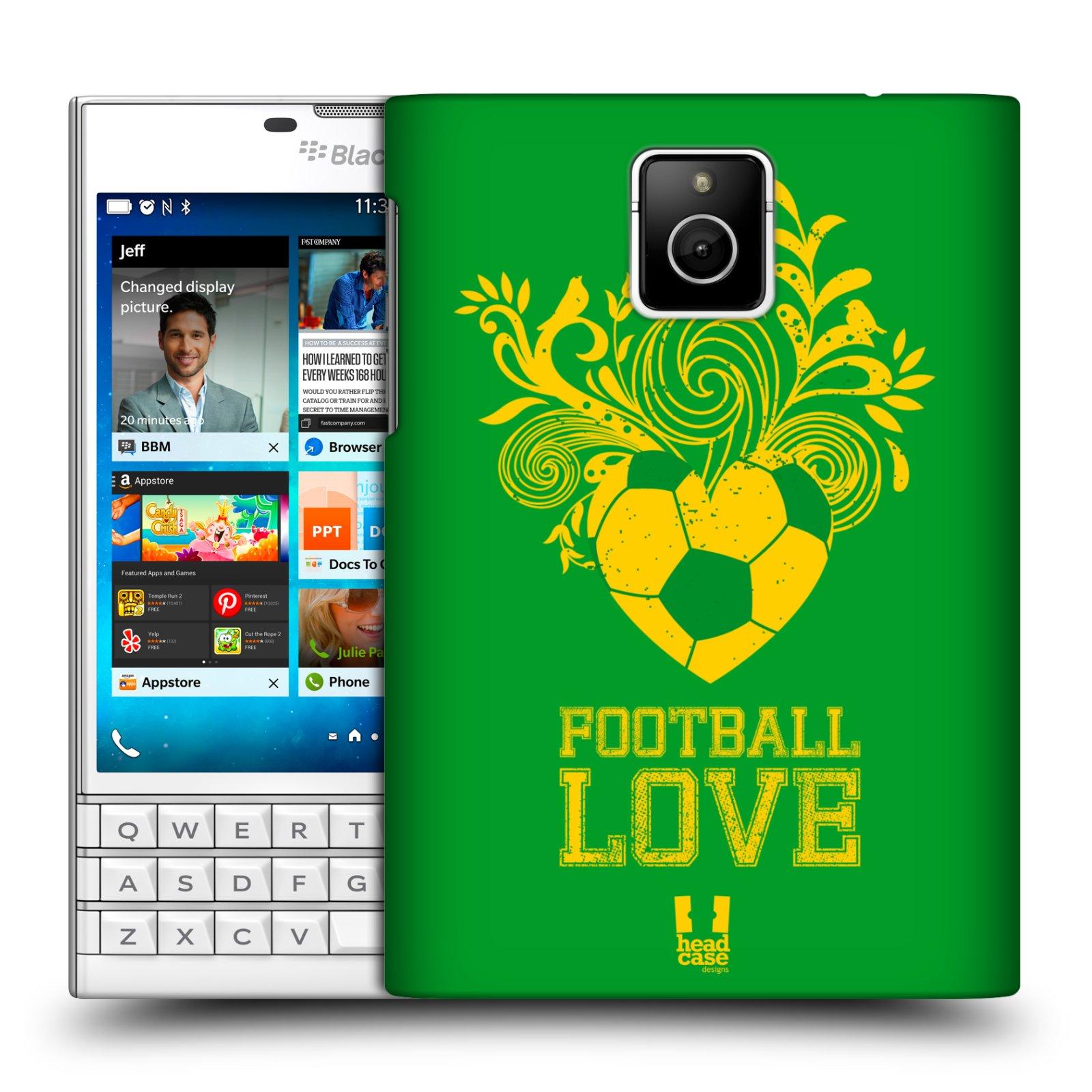 HEAD CASE plastový obal na mobil BlackBerry Passport Sport fotbalová láska zelená barva