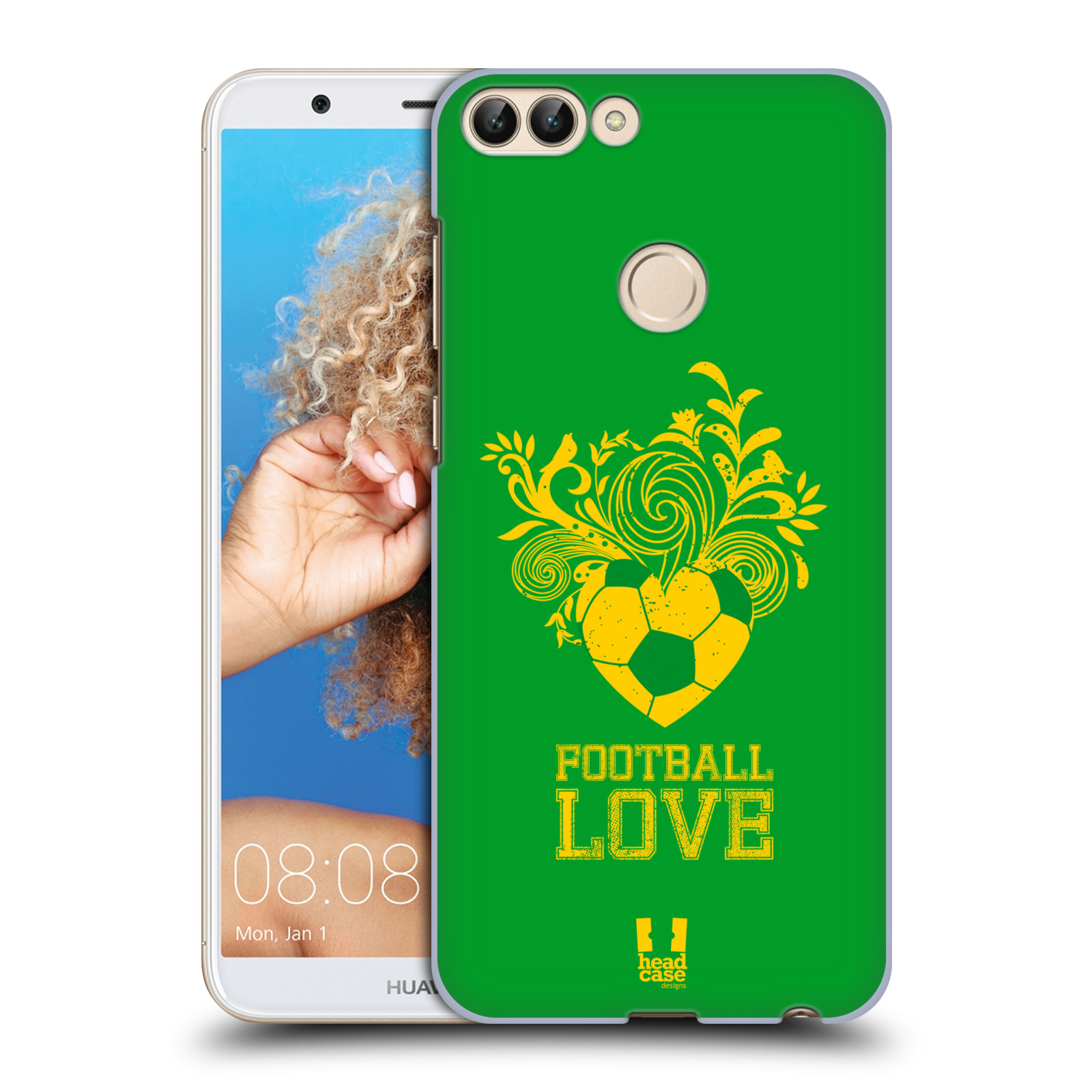 HEAD CASE plastový obal na mobil Huawei P Smart Sport fotbalová láska zelená barva