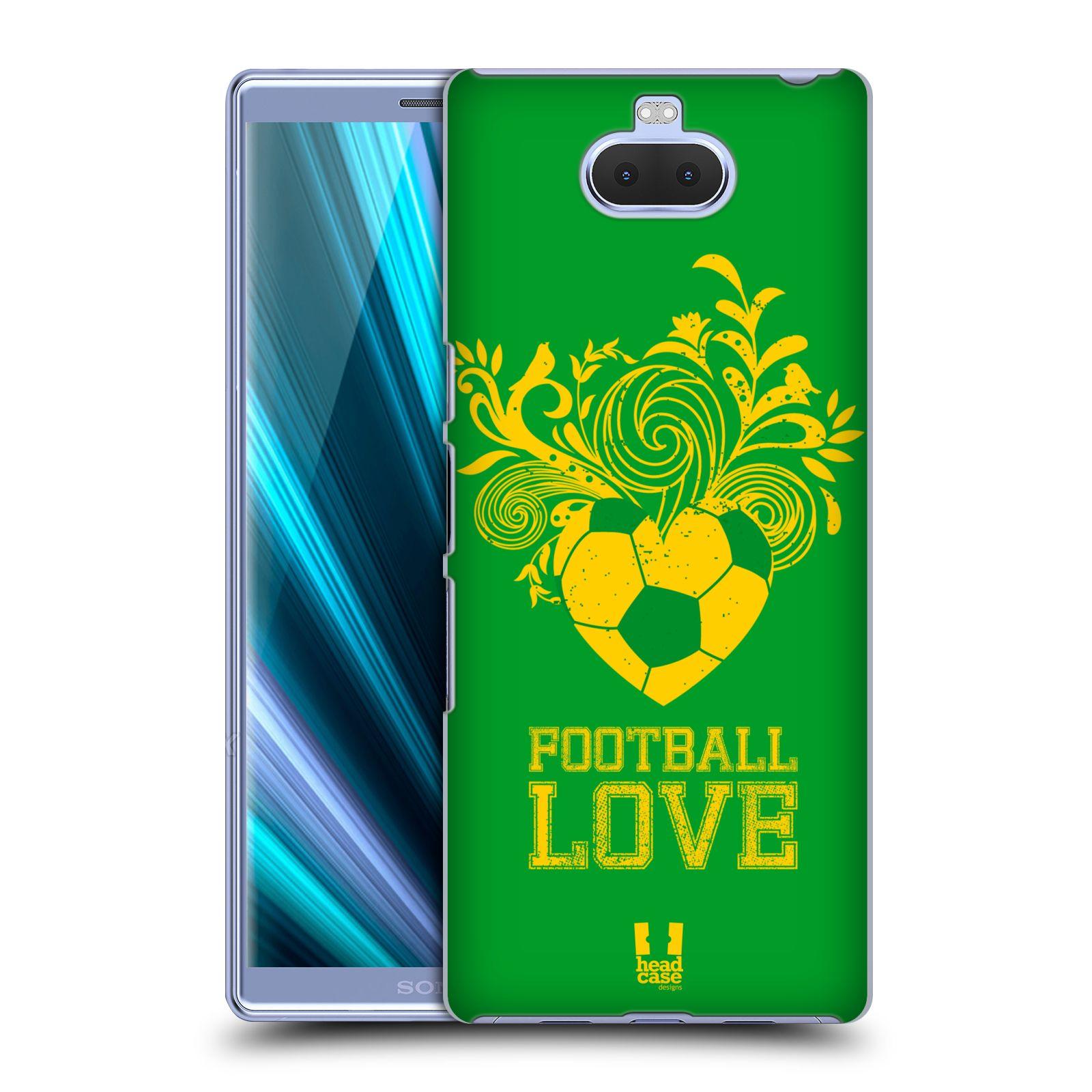 Pouzdro na mobil Sony Xperia 10 - Head Case - Sport fotbalová láska zelená barva