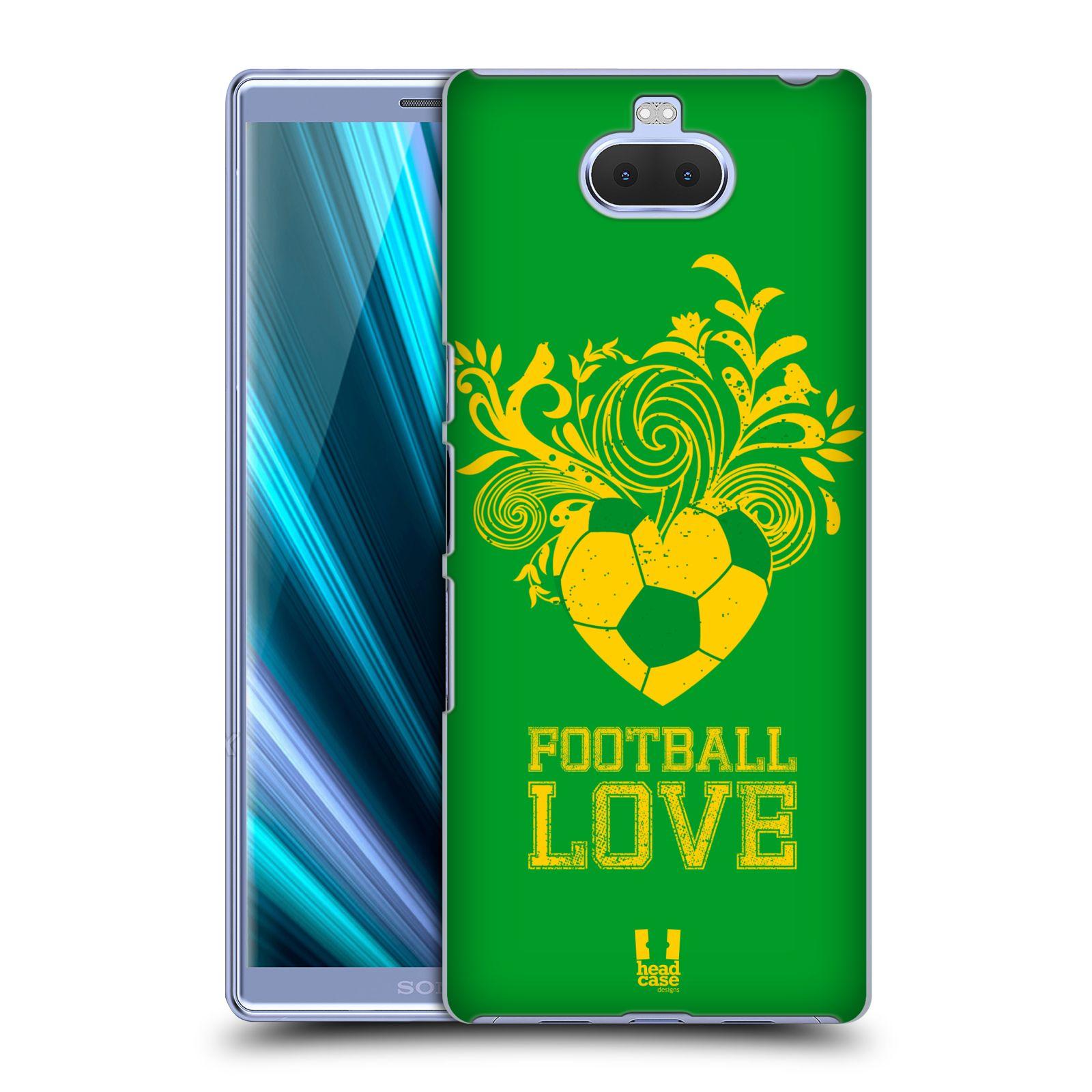 Pouzdro na mobil Sony Xperia 10 Plus - Head Case - Sport fotbalová láska zelená barva