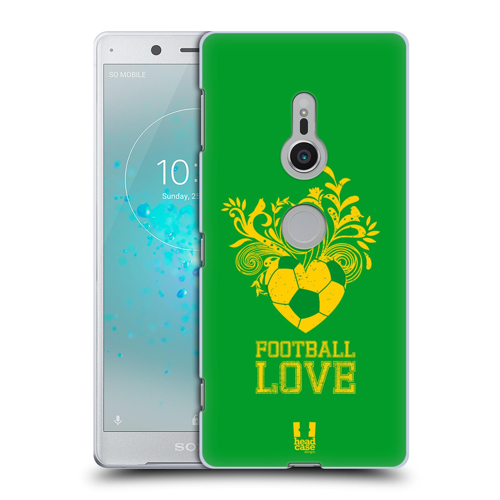HEAD CASE plastový obal na mobil Sony Xperia XZ2 Sport fotbalová láska zelená barva