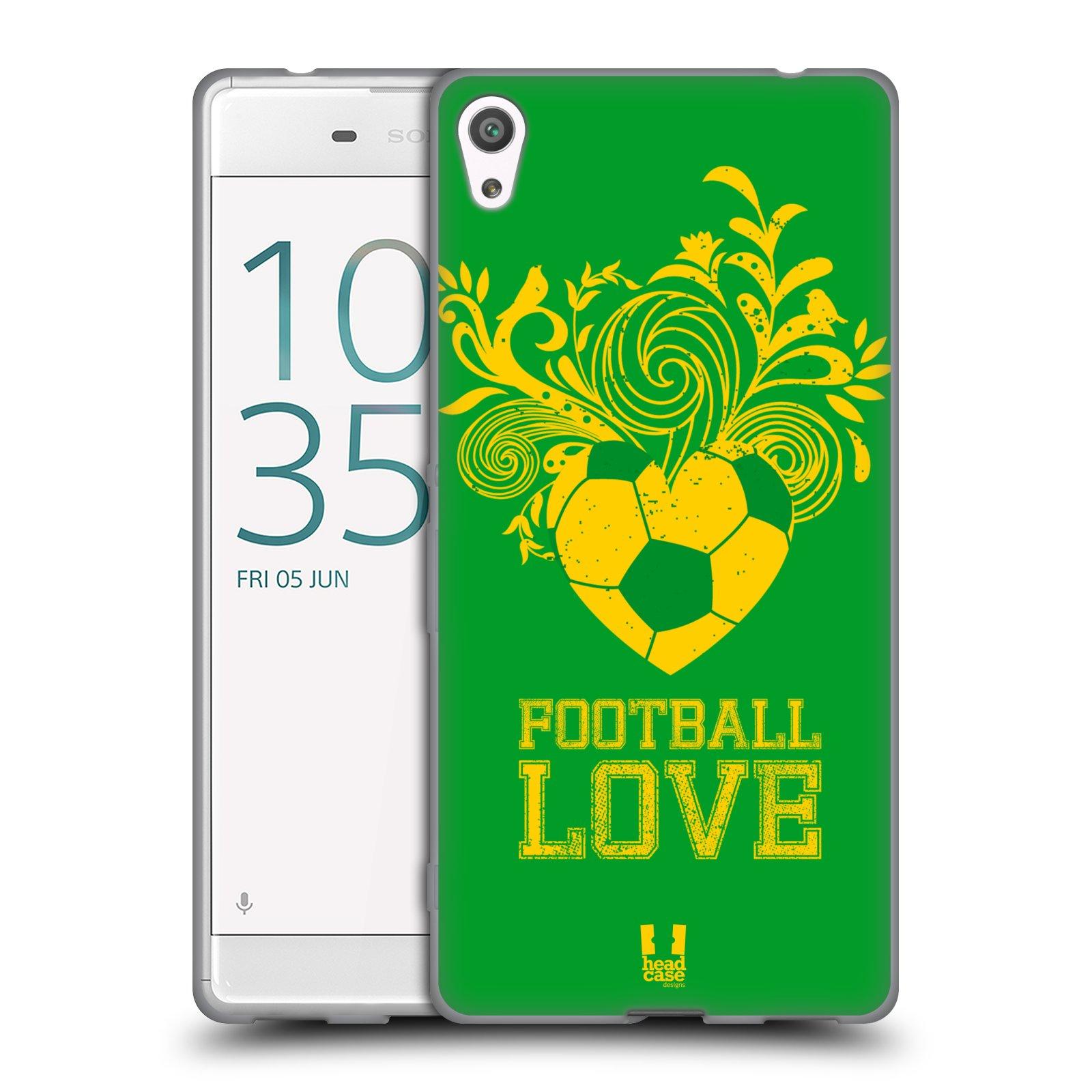 HEAD CASE silikonový obal na mobil Sony Xperia XA ULTRA Sport fotbalová láska zelená barva