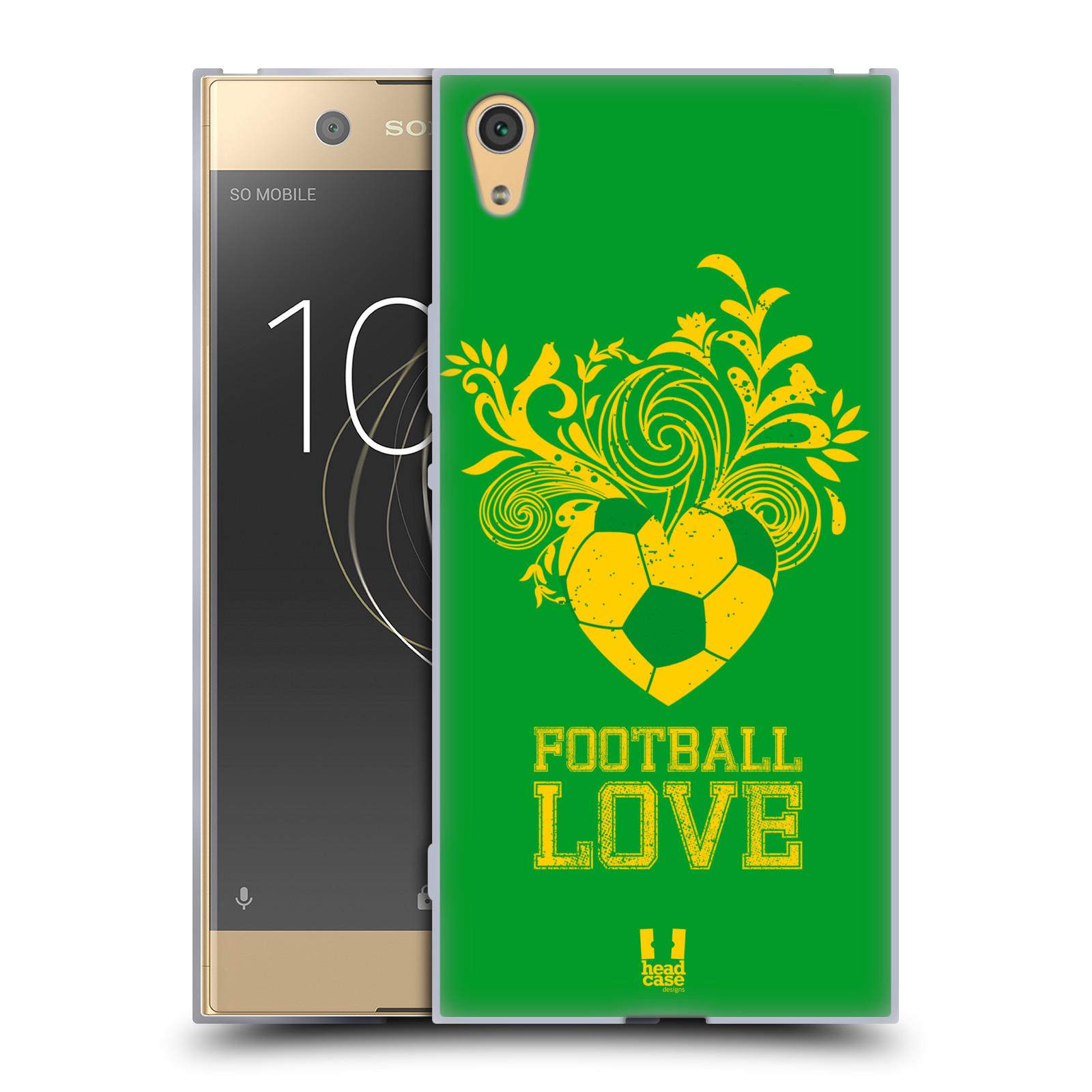 HEAD CASE silikonový obal na mobil Sony Xperia XA1 ULTRA Sport fotbalová láska zelená barva