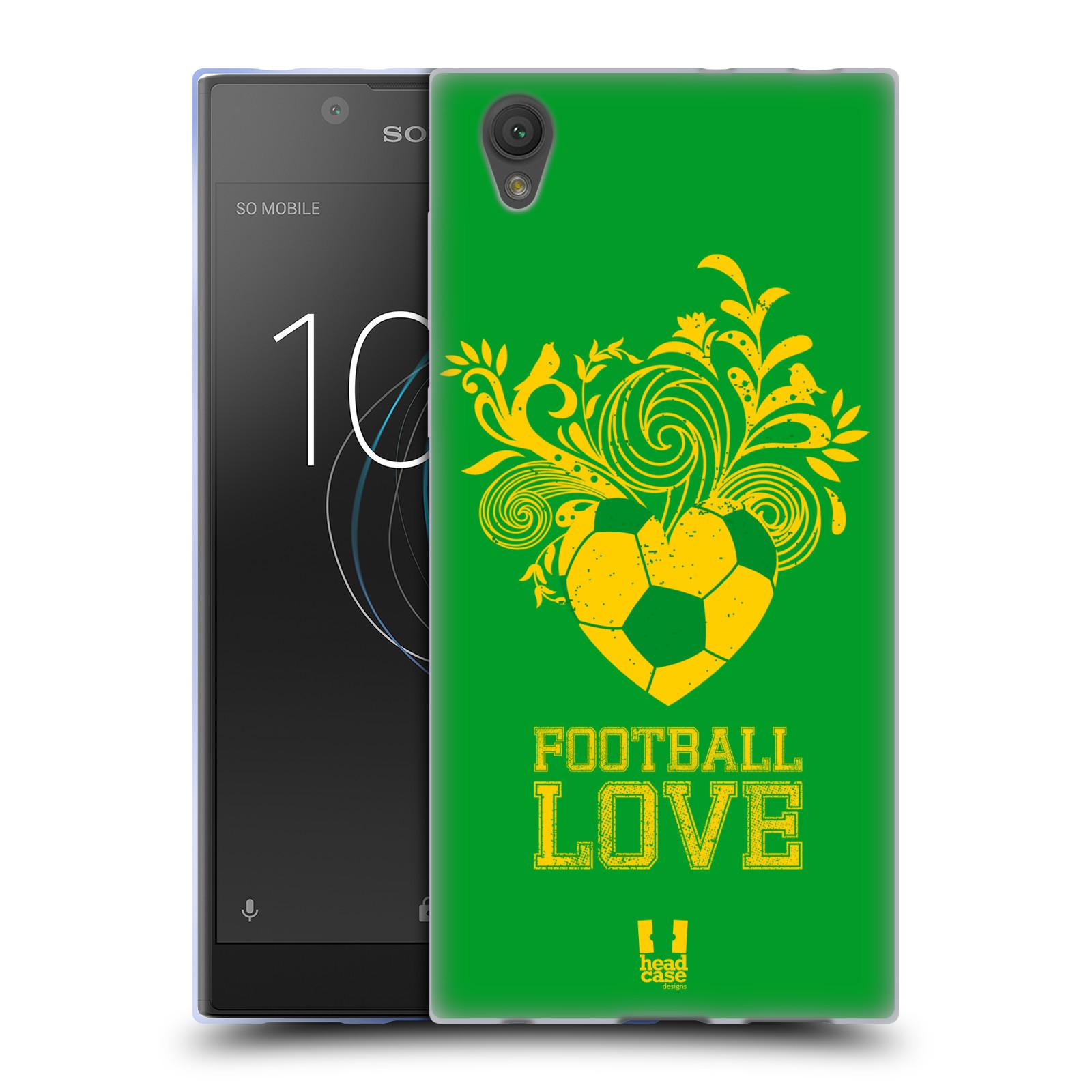 HEAD CASE silikonový obal na mobil Sony Xperia L1 Sport fotbalová láska zelená barva
