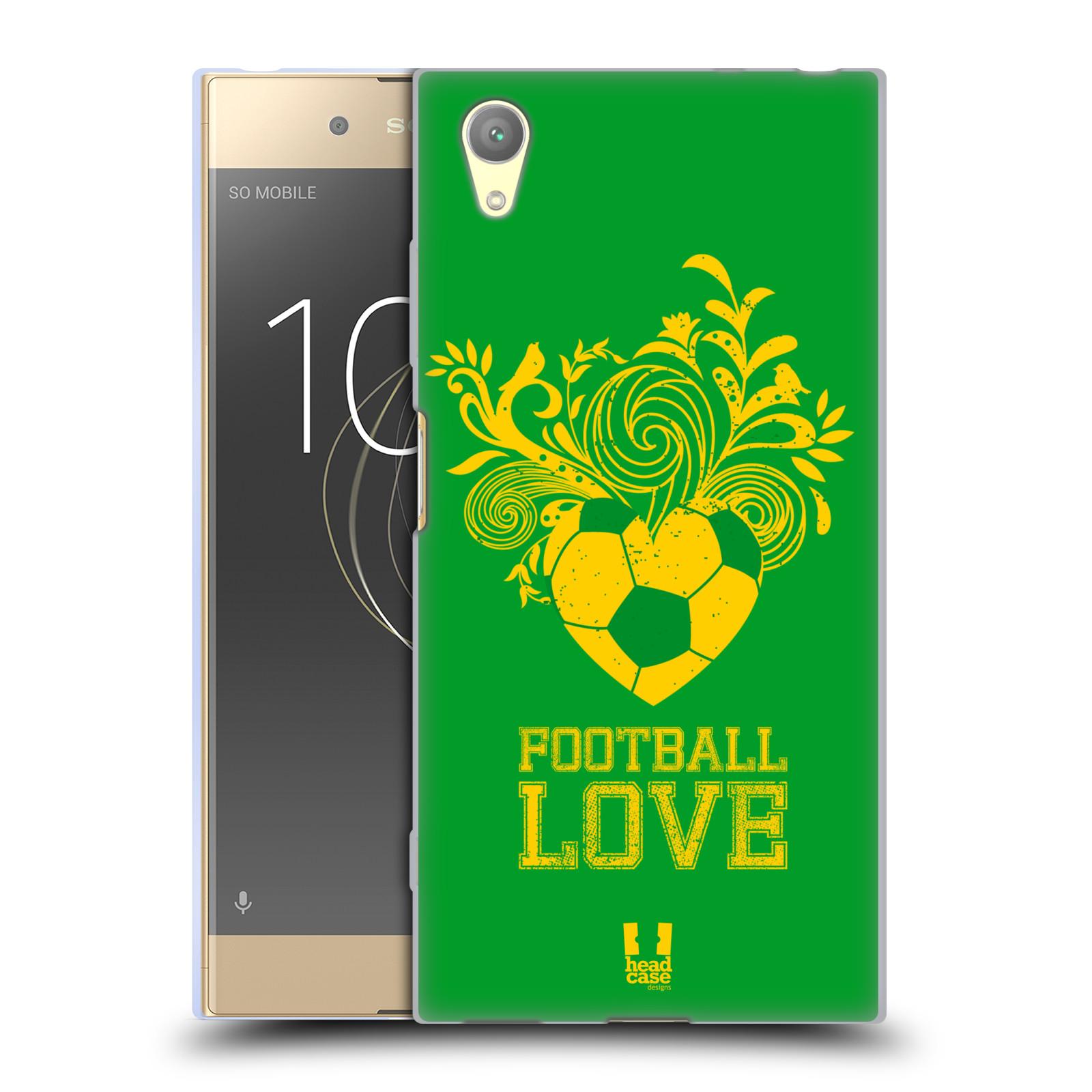HEAD CASE silikonový obal na mobil Sony Xperia XA1 PLUS Sport fotbalová láska zelená barva