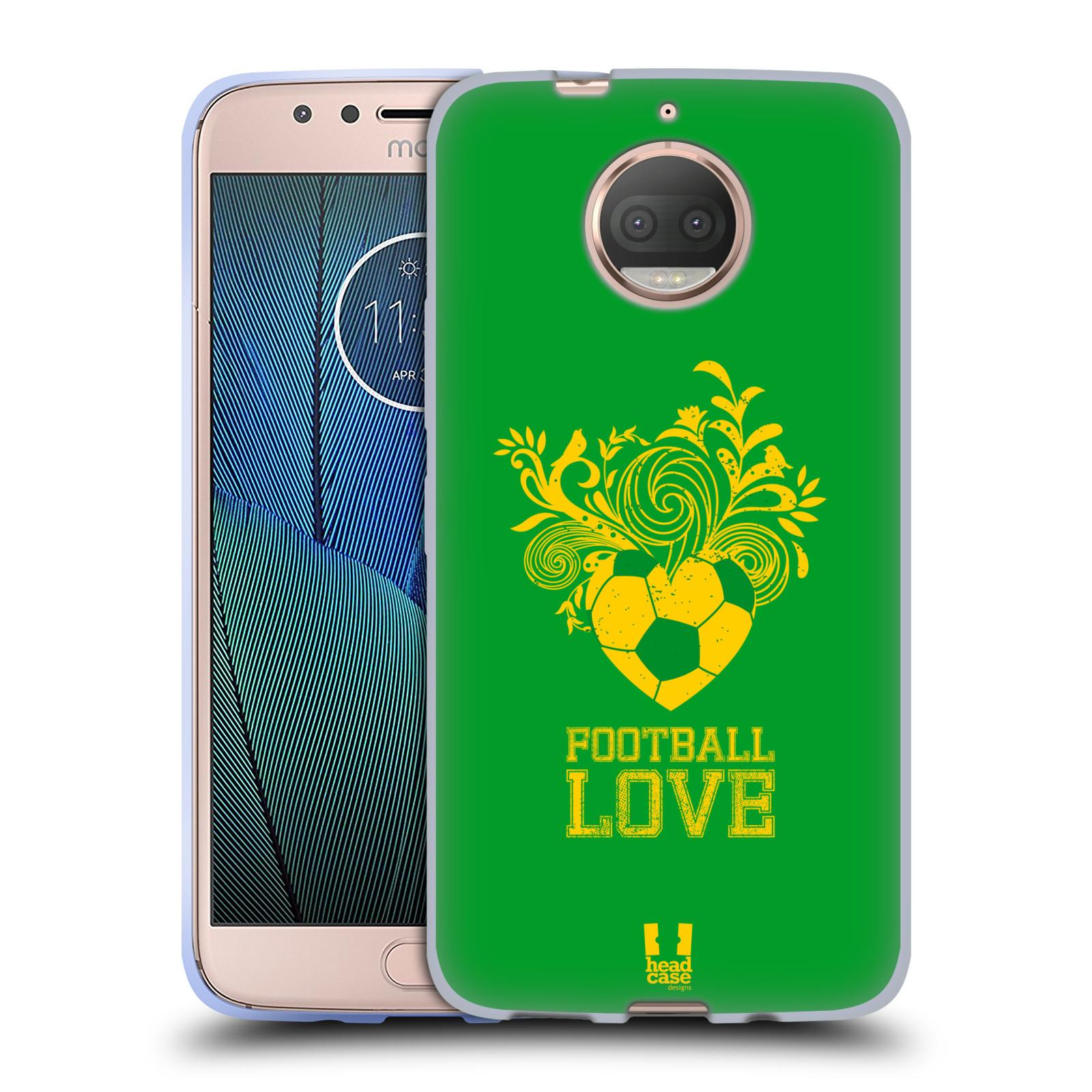 HEAD CASE silikonový obal na mobil Lenovo Moto G5s PLUS Sport fotbalová láska zelená barva