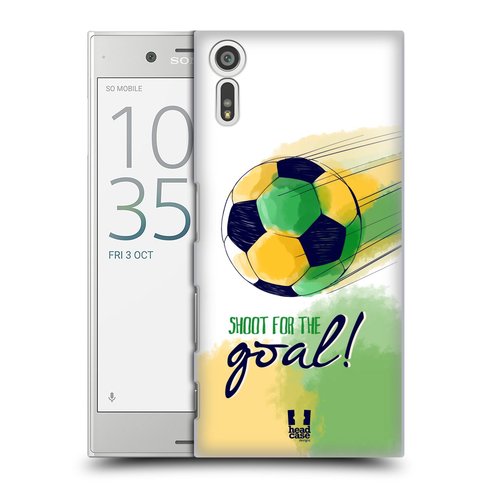 HEAD CASE plastový obal na mobil Sony Xperia XZ Sport fotbalový gól zelená barva