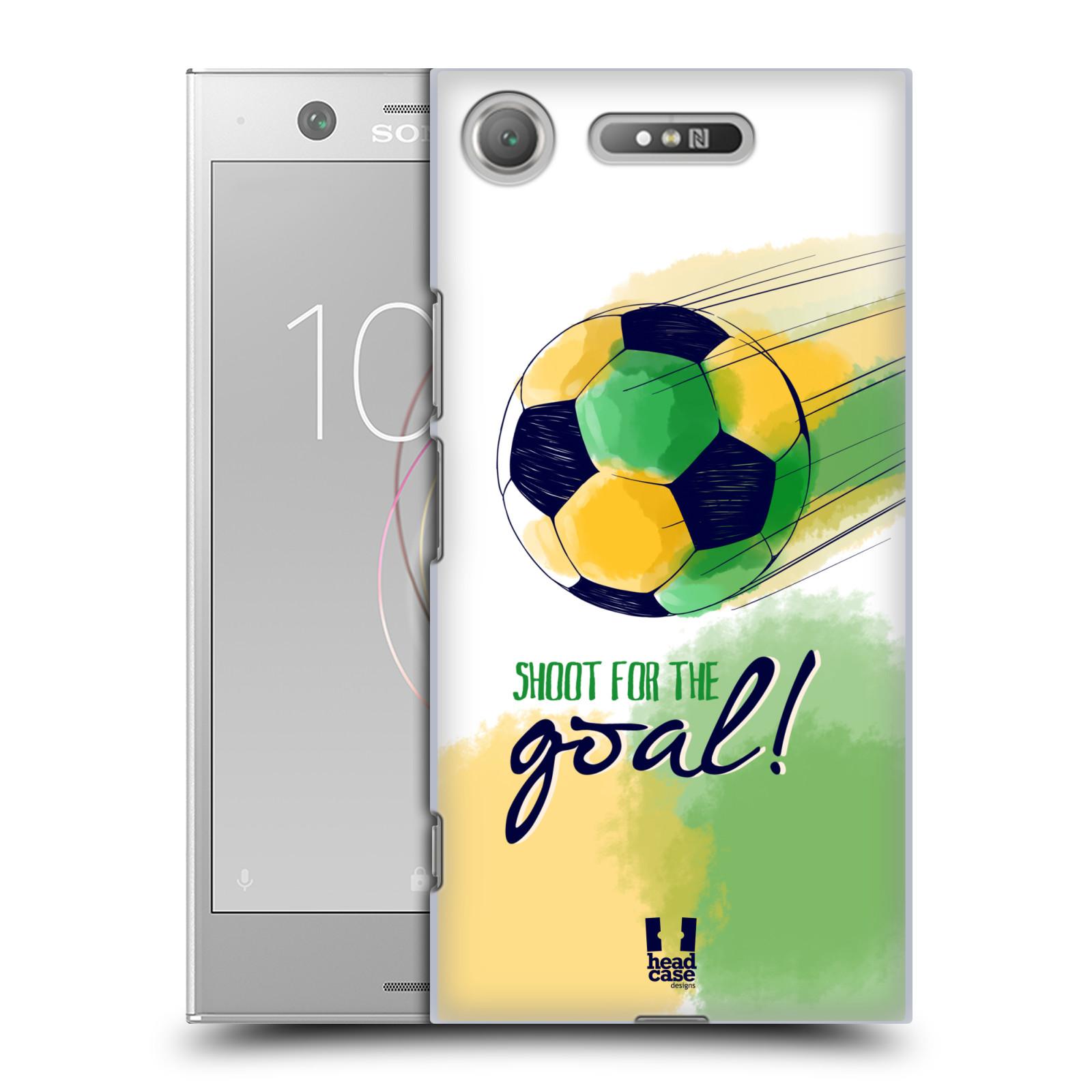 HEAD CASE plastový obal na mobil Sony Xperia XZ1 Sport fotbalový gól zelená barva