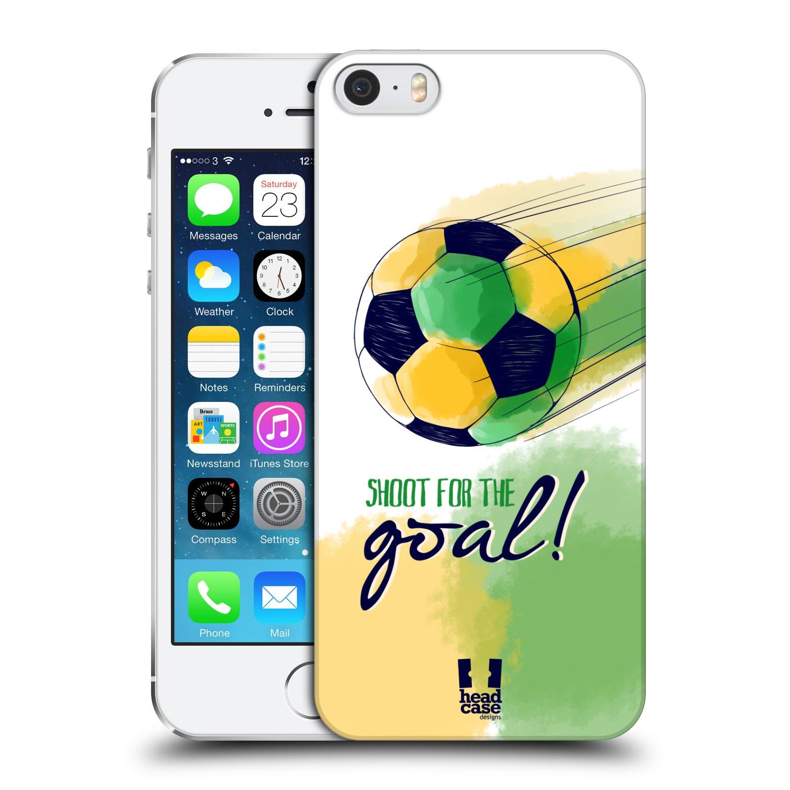 Plastové pouzdro pro mobil Apple Iphone 5 / 5S / SE Sport fotbalový gól zelená barva