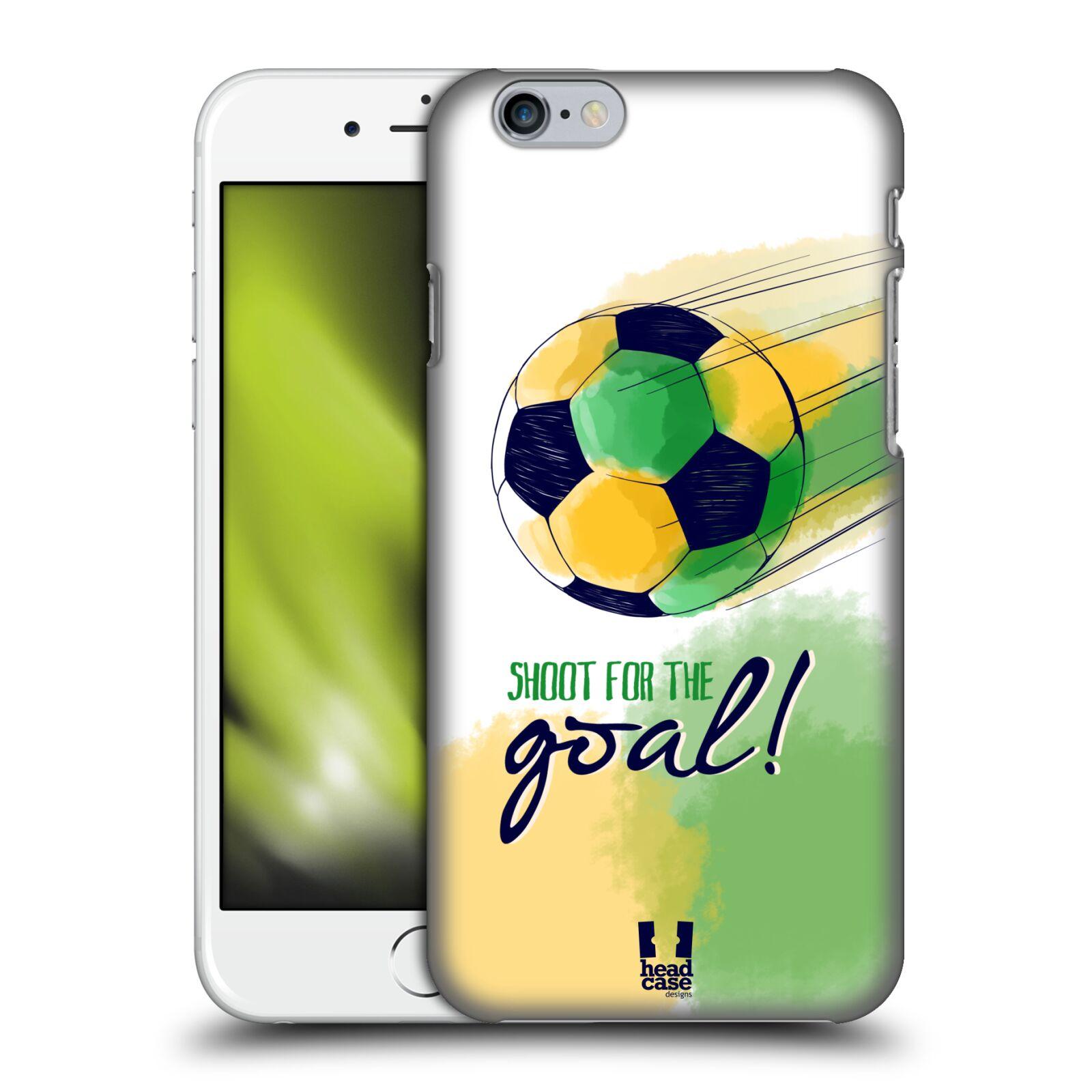 Plastové pouzdro pro mobil Apple Iphone 6/6S Sport fotbalový gól zelená barva