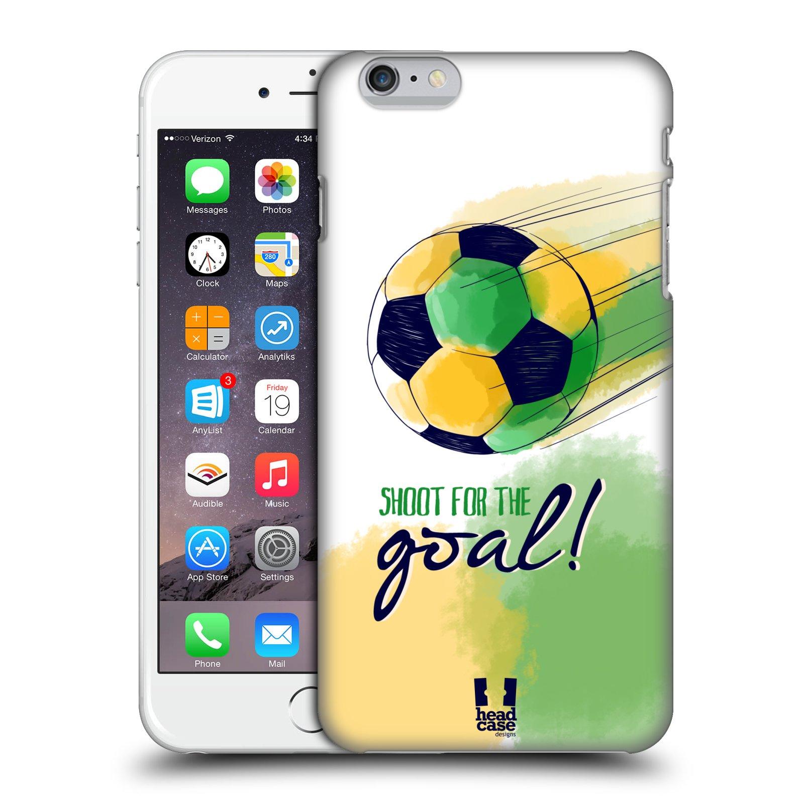 Plastové pouzdro pro mobil Apple Iphone 6 PLUS / 6S PLUS Sport fotbalový gól zelená barva