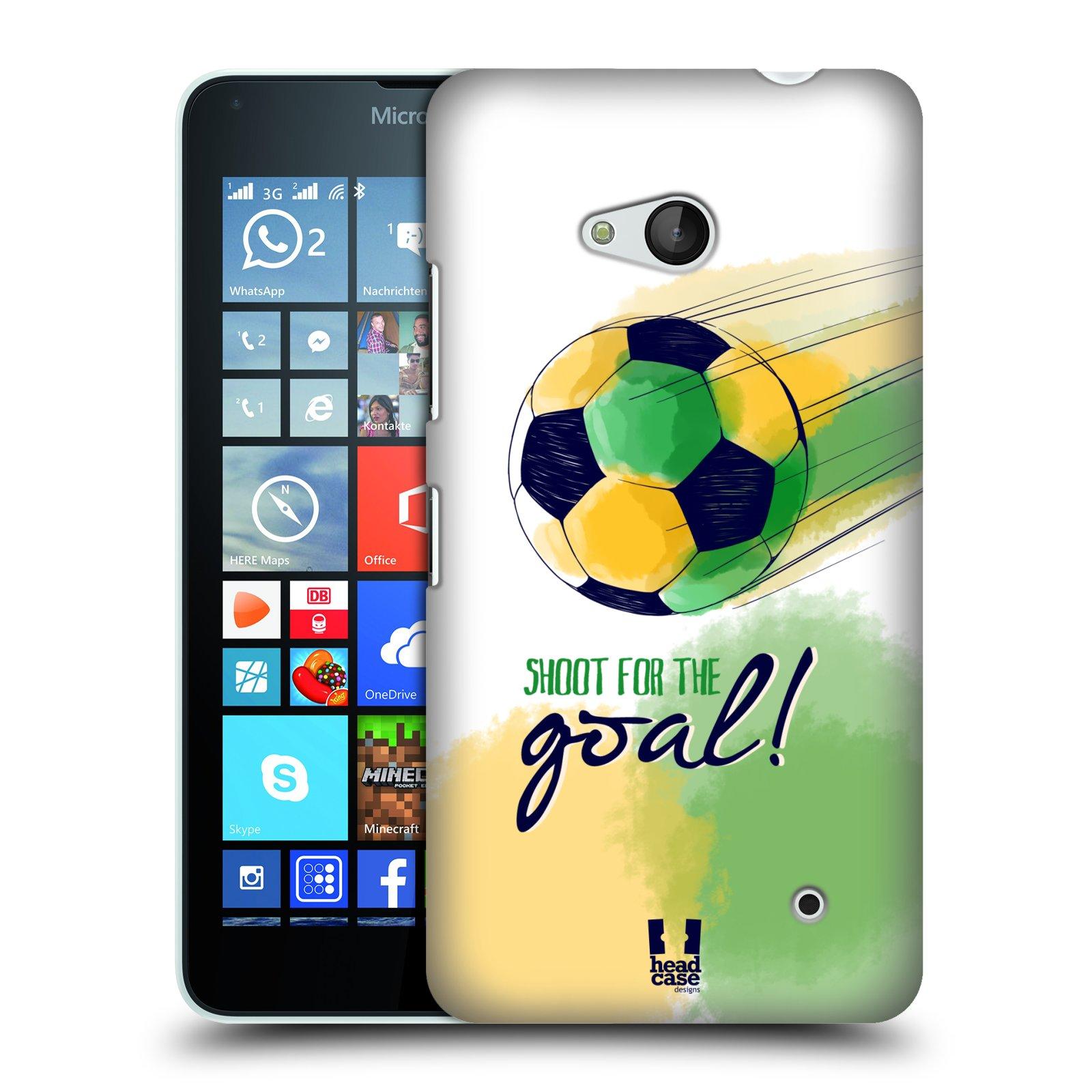 HEAD CASE plastový obal na mobil Nokia Lumia 640 Sport fotbalový gól zelená barva