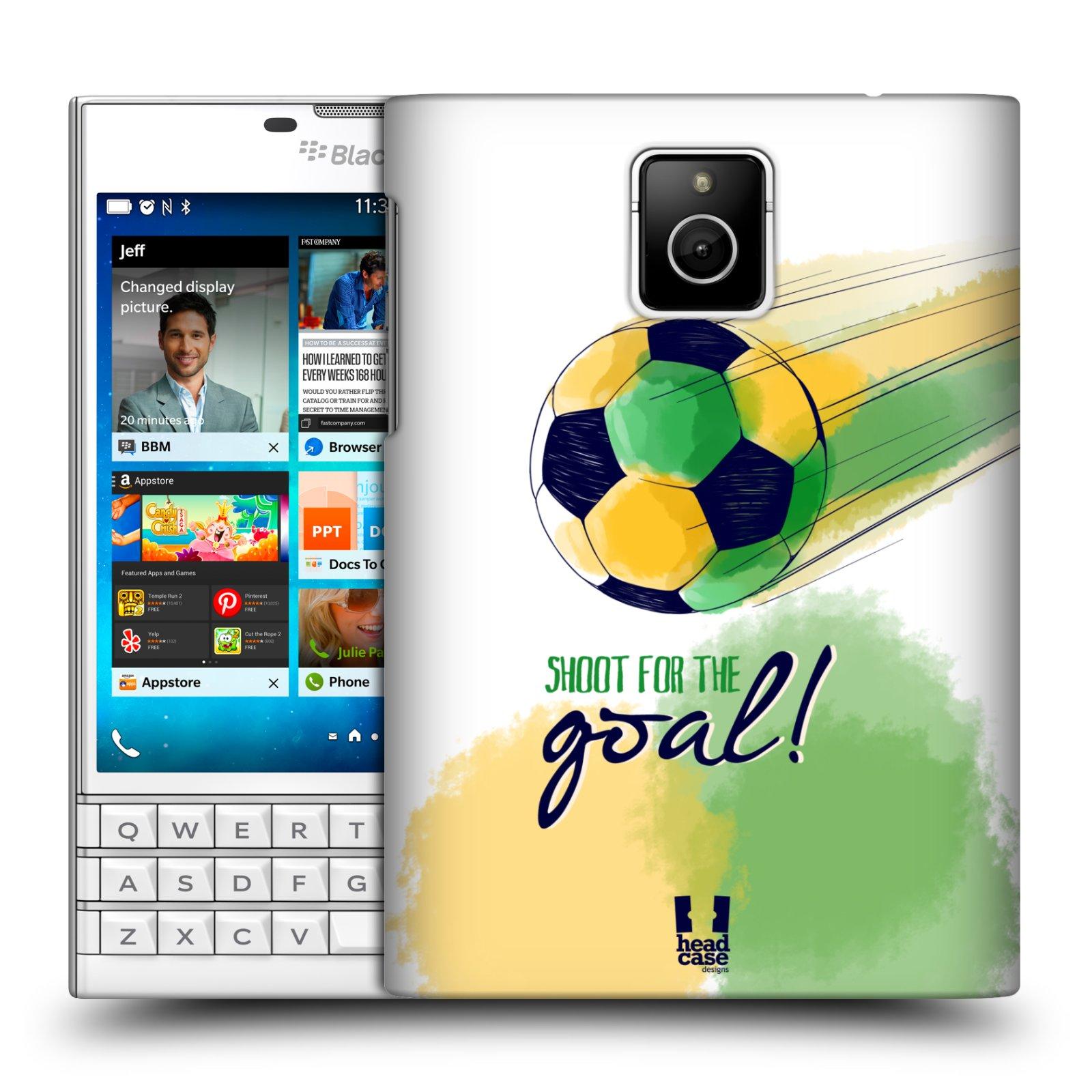 HEAD CASE plastový obal na mobil BlackBerry Passport Sport fotbalový gól zelená barva