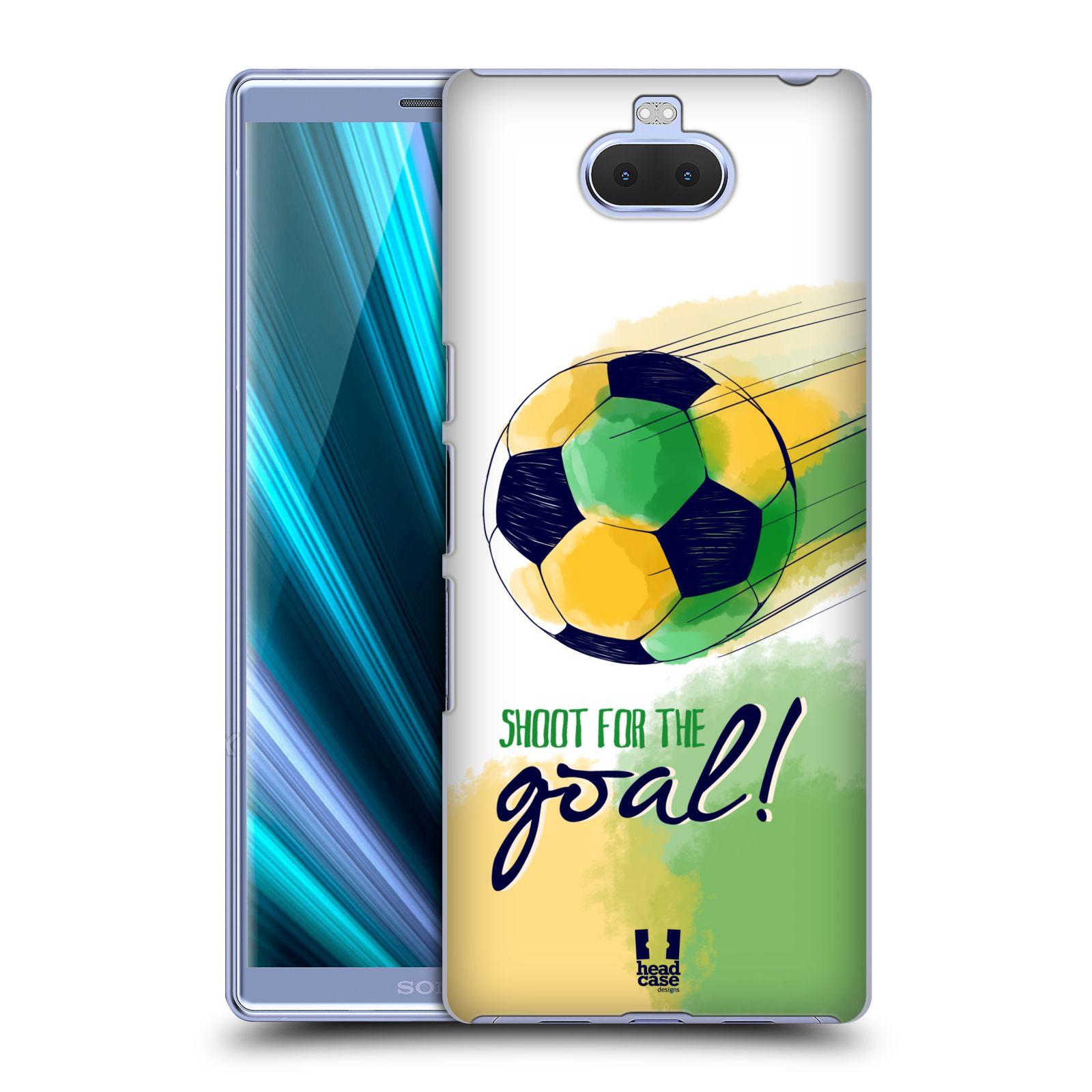 Pouzdro na mobil Sony Xperia 10 Plus - Head Case - Sport fotbalový gól zelená barva