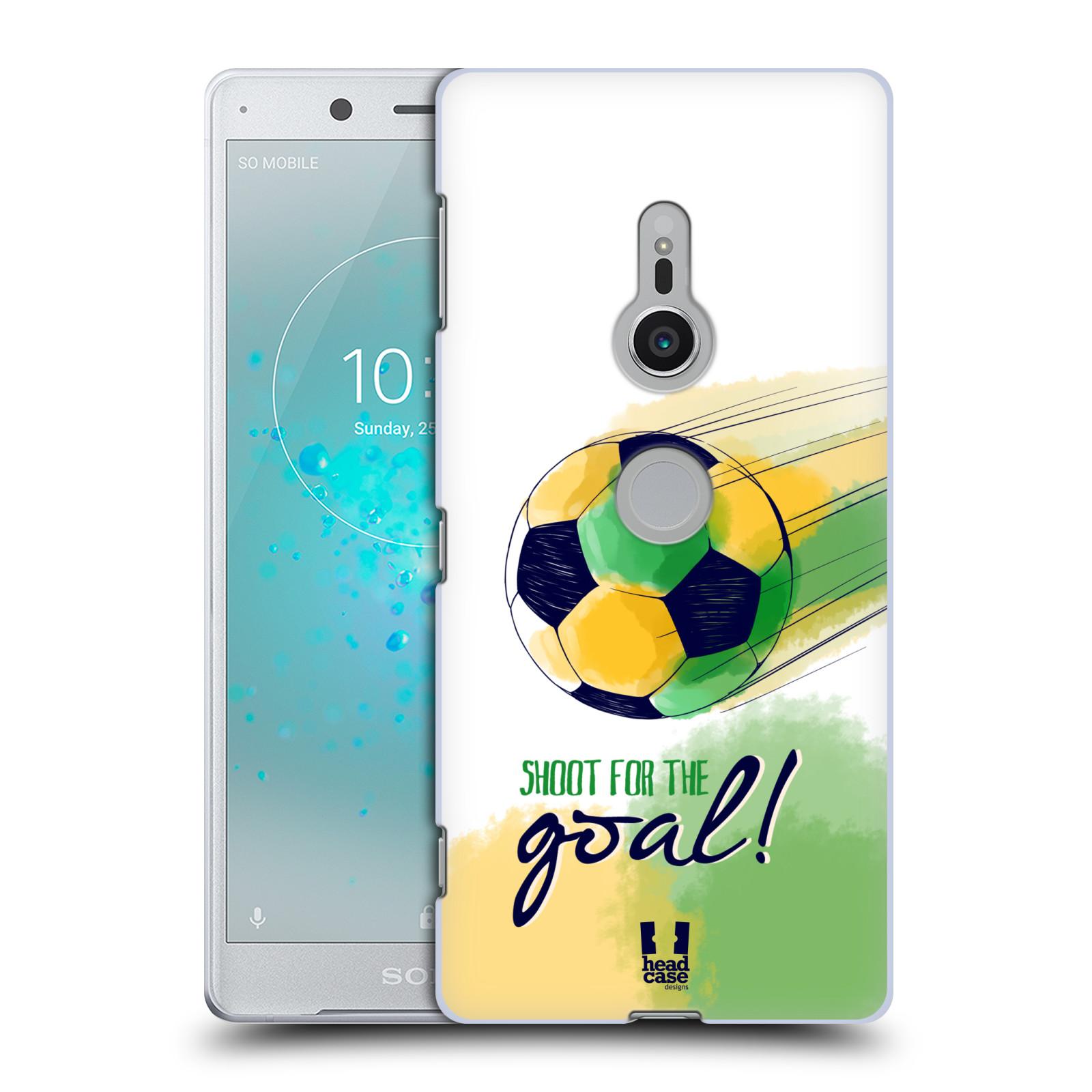 HEAD CASE plastový obal na mobil Sony Xperia XZ2 Sport fotbalový gól zelená barva