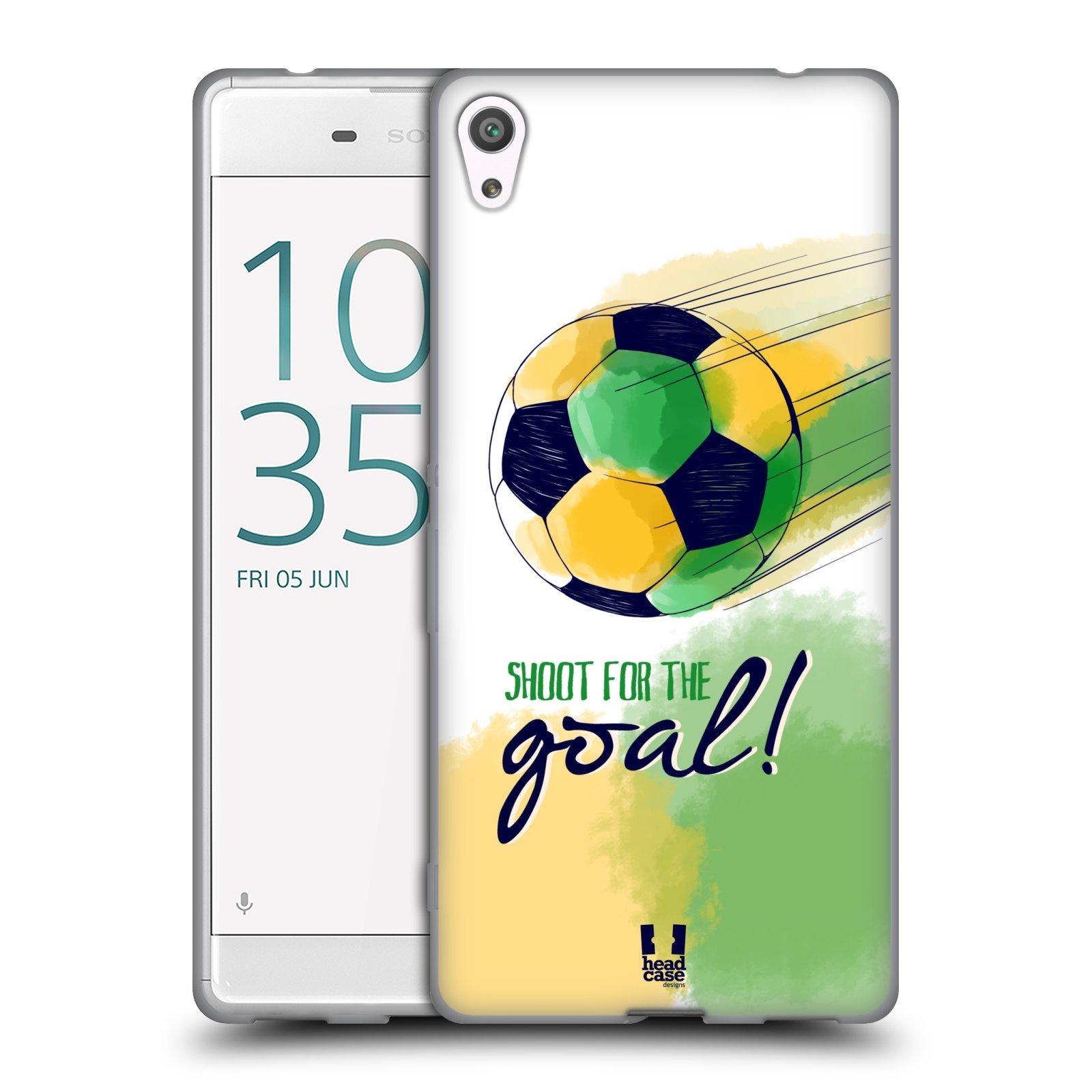 HEAD CASE silikonový obal na mobil Sony Xperia XA ULTRA Sport fotbalový gól zelená barva