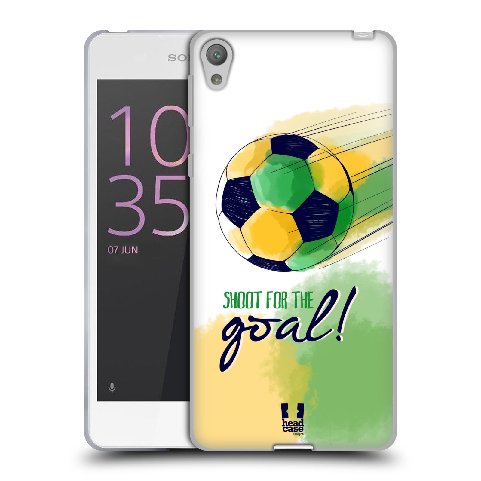 HEAD CASE silikonový obal na mobil Sony Xperia E5 Sport fotbalový gól zelená barva