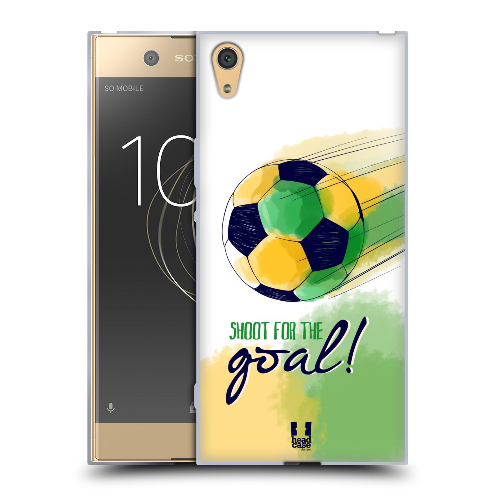 HEAD CASE silikonový obal na mobil Sony Xperia XA1 ULTRA Sport fotbalový gól zelená barva