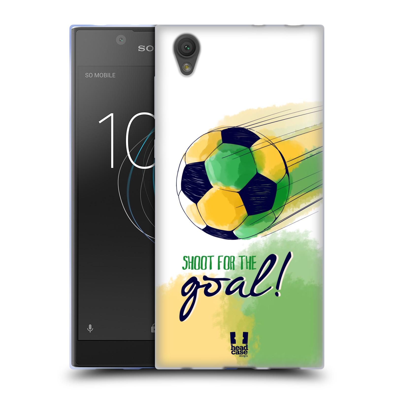 HEAD CASE silikonový obal na mobil Sony Xperia L1 Sport fotbalový gól zelená barva