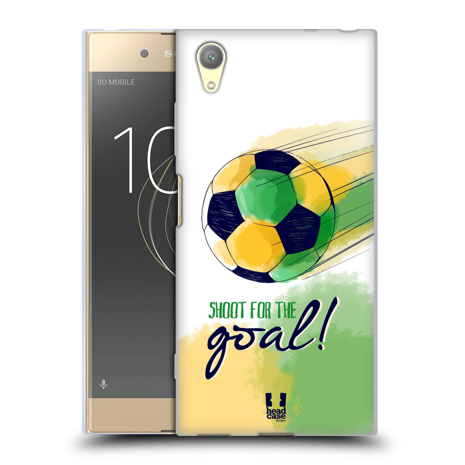 HEAD CASE silikonový obal na mobil Sony Xperia XA1 PLUS Sport fotbalový gól zelená barva