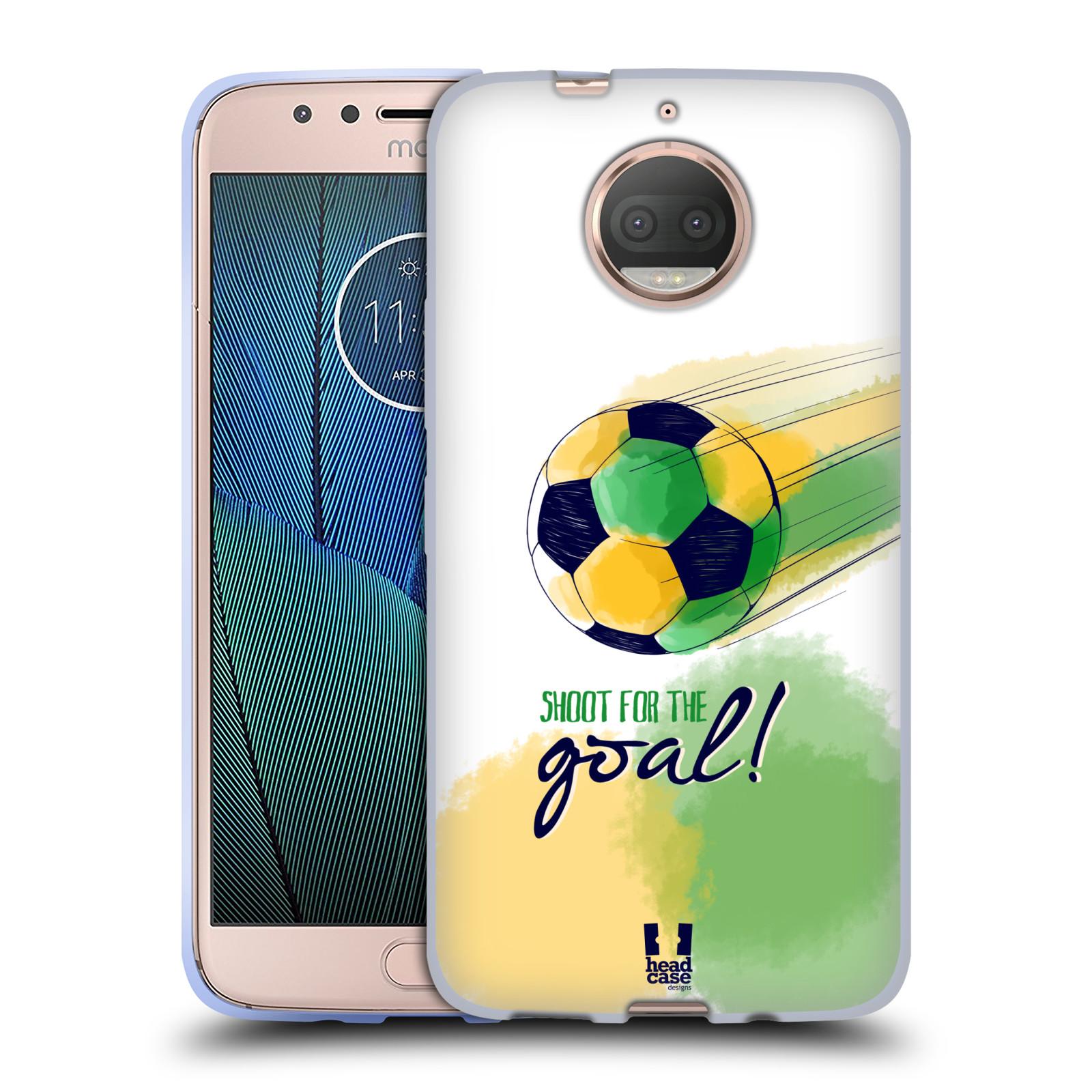 HEAD CASE silikonový obal na mobil Lenovo Moto G5s PLUS Sport fotbalový gól zelená barva